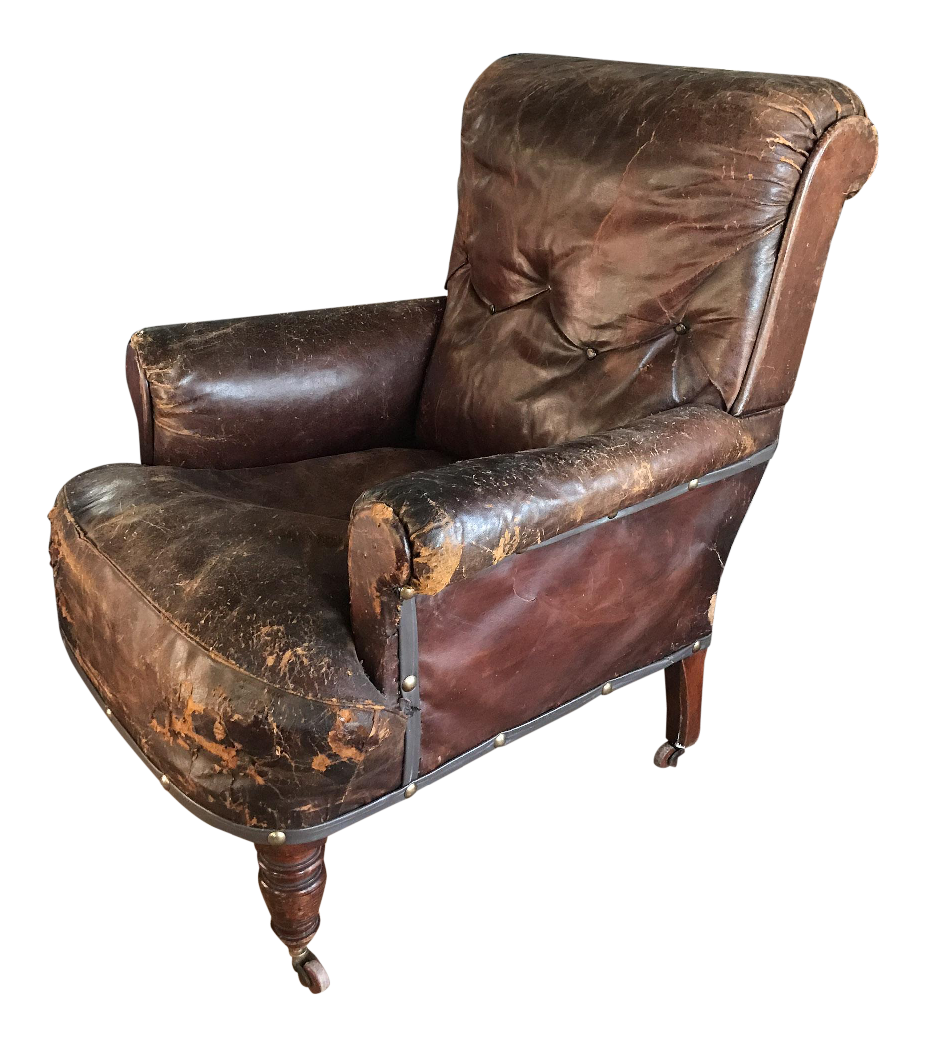 Miraculous Old Distressed Leather Club Chair Camellatalisay Diy Chair Ideas Camellatalisaycom