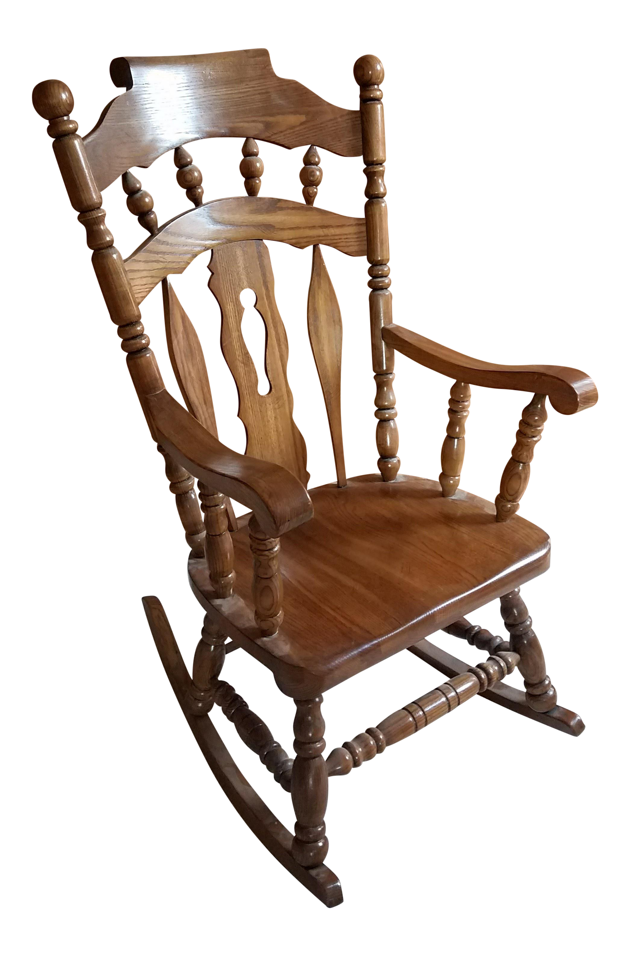 Virginia house solid oak rocking chair chairish