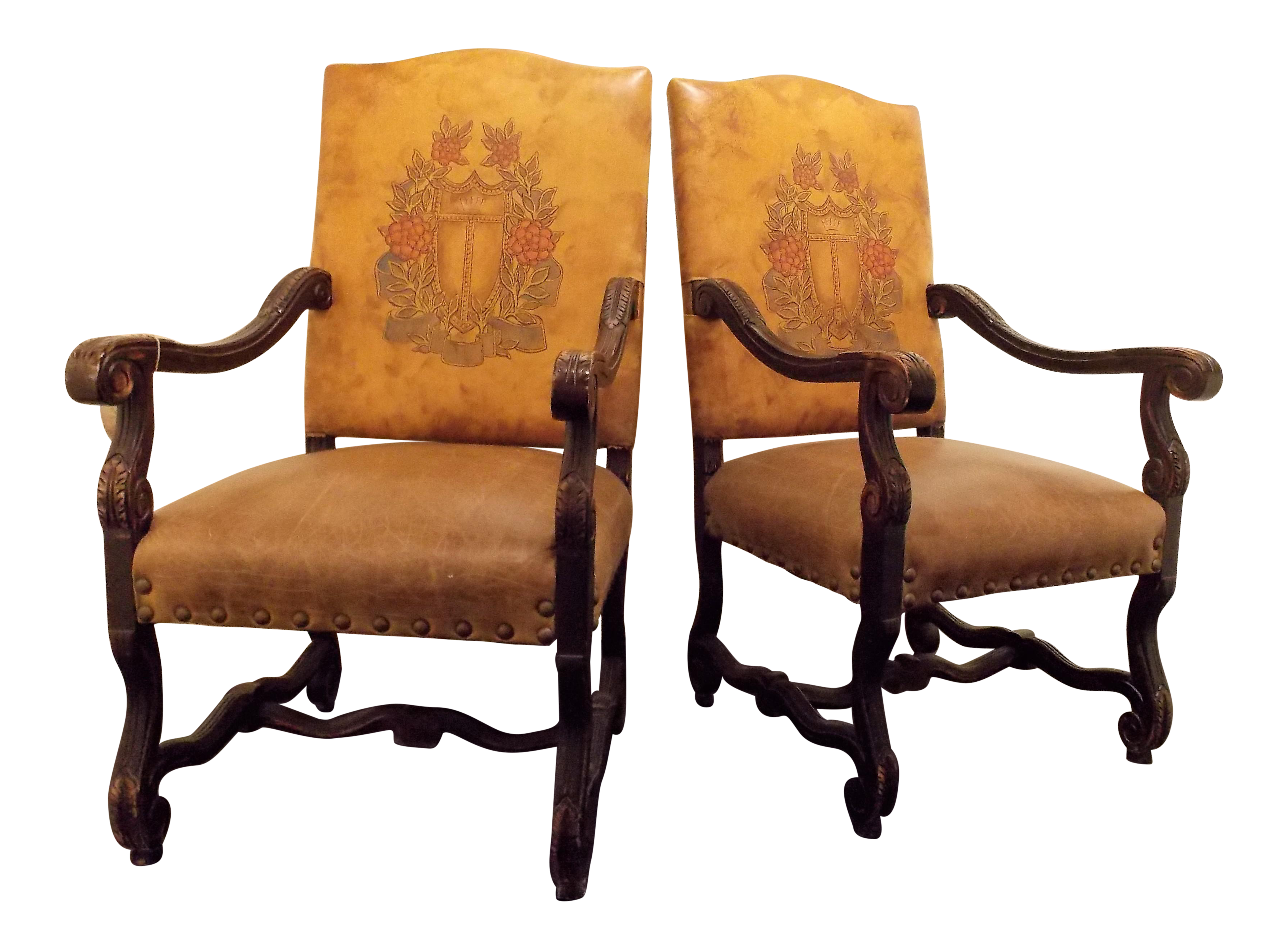Entry Chairs By Old Hickory Tannery A Pair Chairish