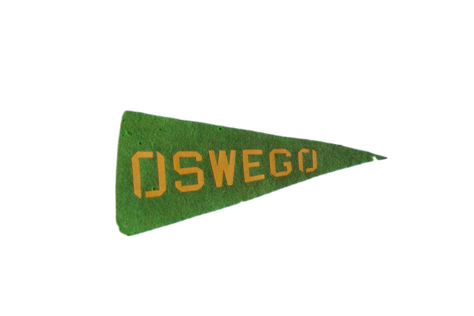 Mini Vintage Oswego Felt Flag Pennant Chairish