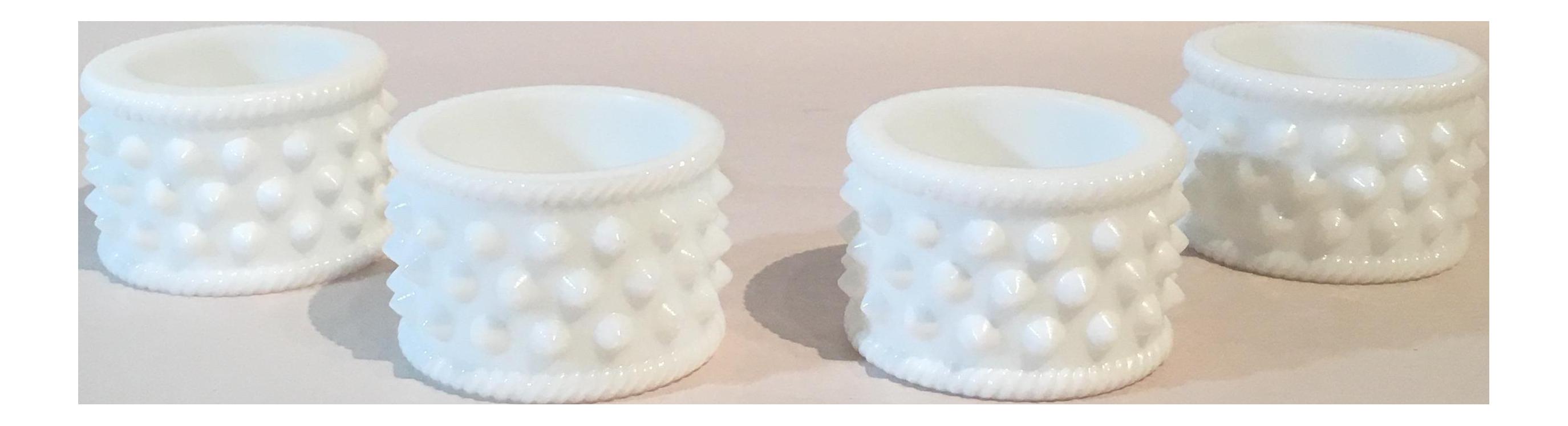 Fenton hobnail milk glass napkin rings set of 4 chairish reviewsmspy