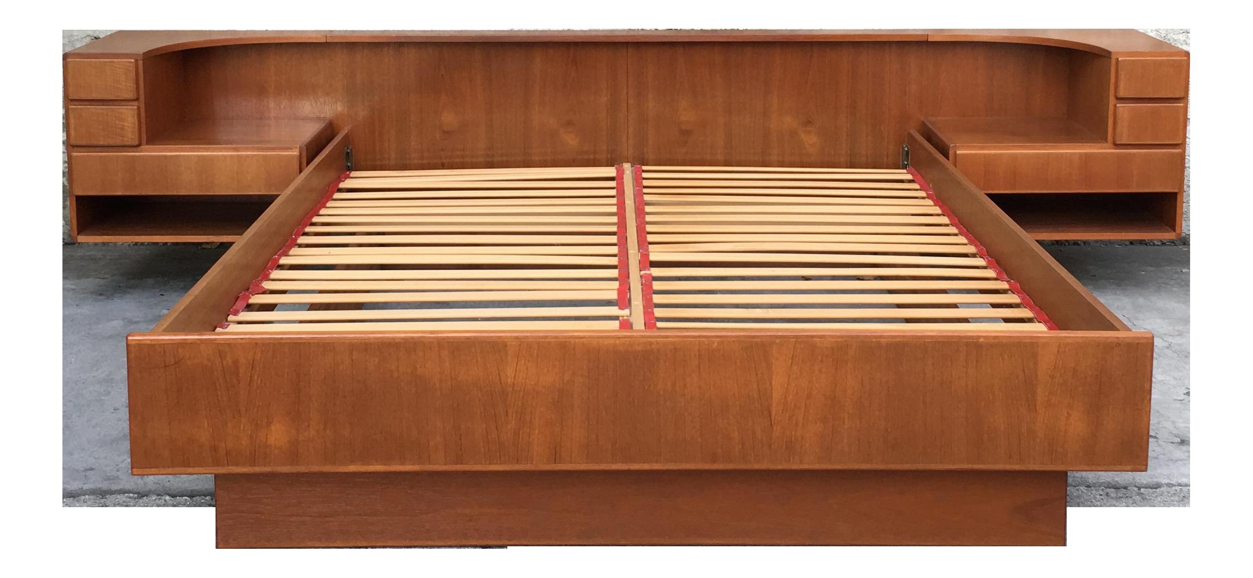 Komfort Mid Century Modern Danish Queen Platform Bed Chairish