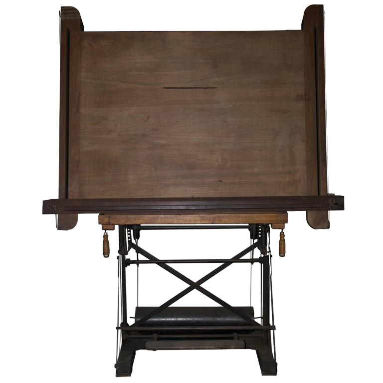 - Excellent Antique Drafting Table DECASO