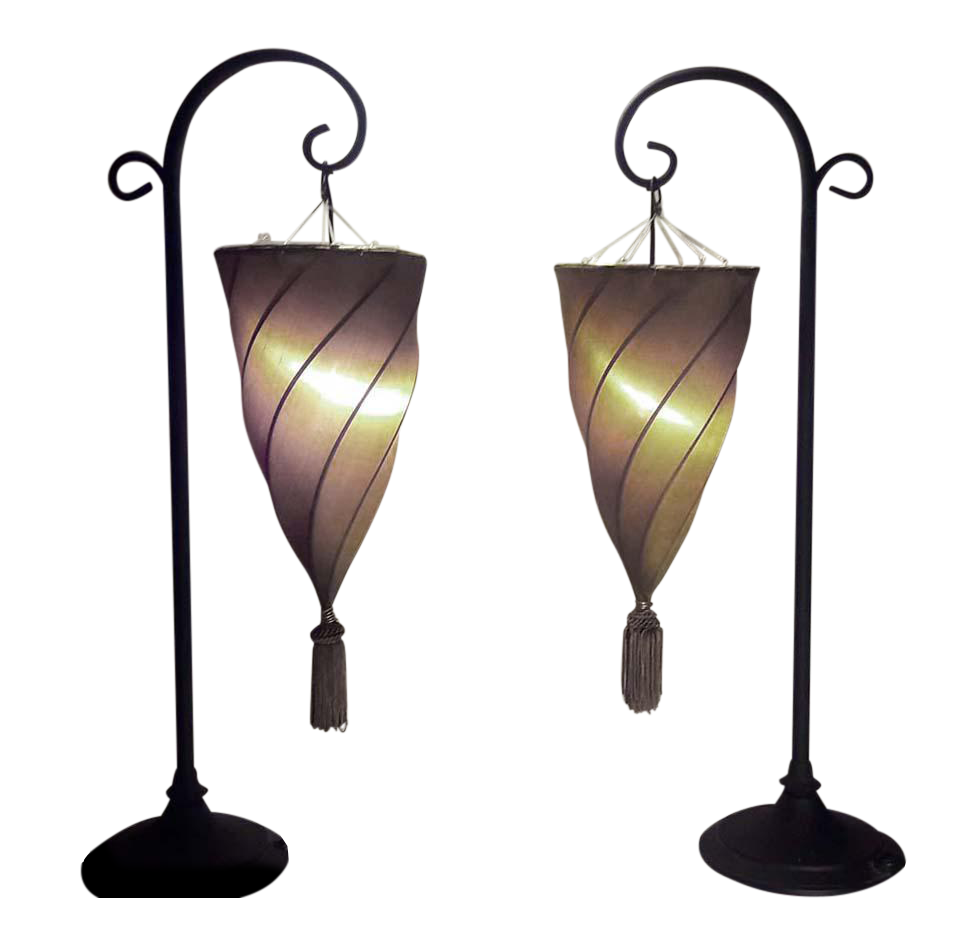 Hanging table lamp lamp design ideas contemporary silk cesendello spiral hanging light table lamps a aloadofball Images