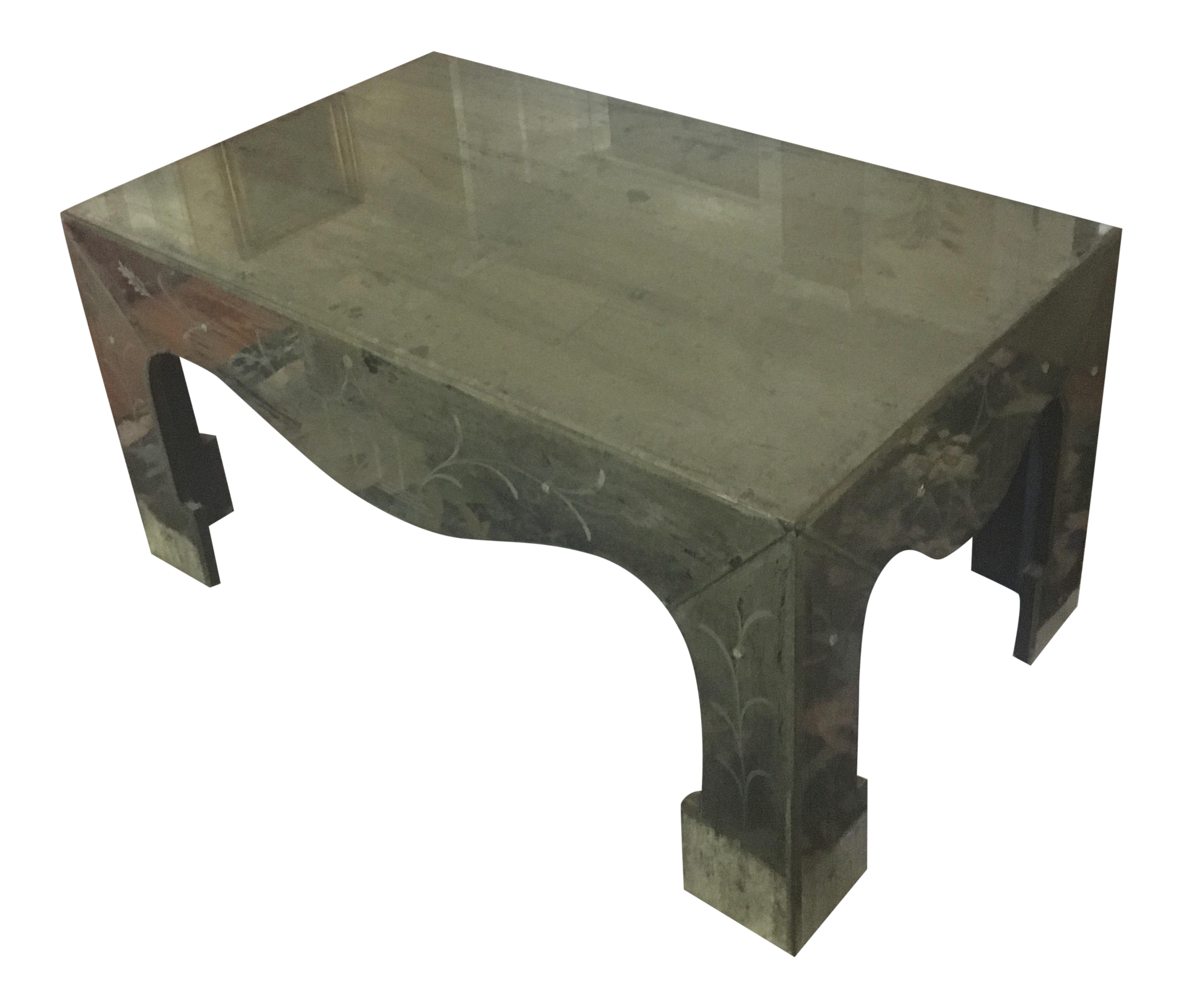 Picture of: Chinoiserie Style Distressed Mirror Table Chairish