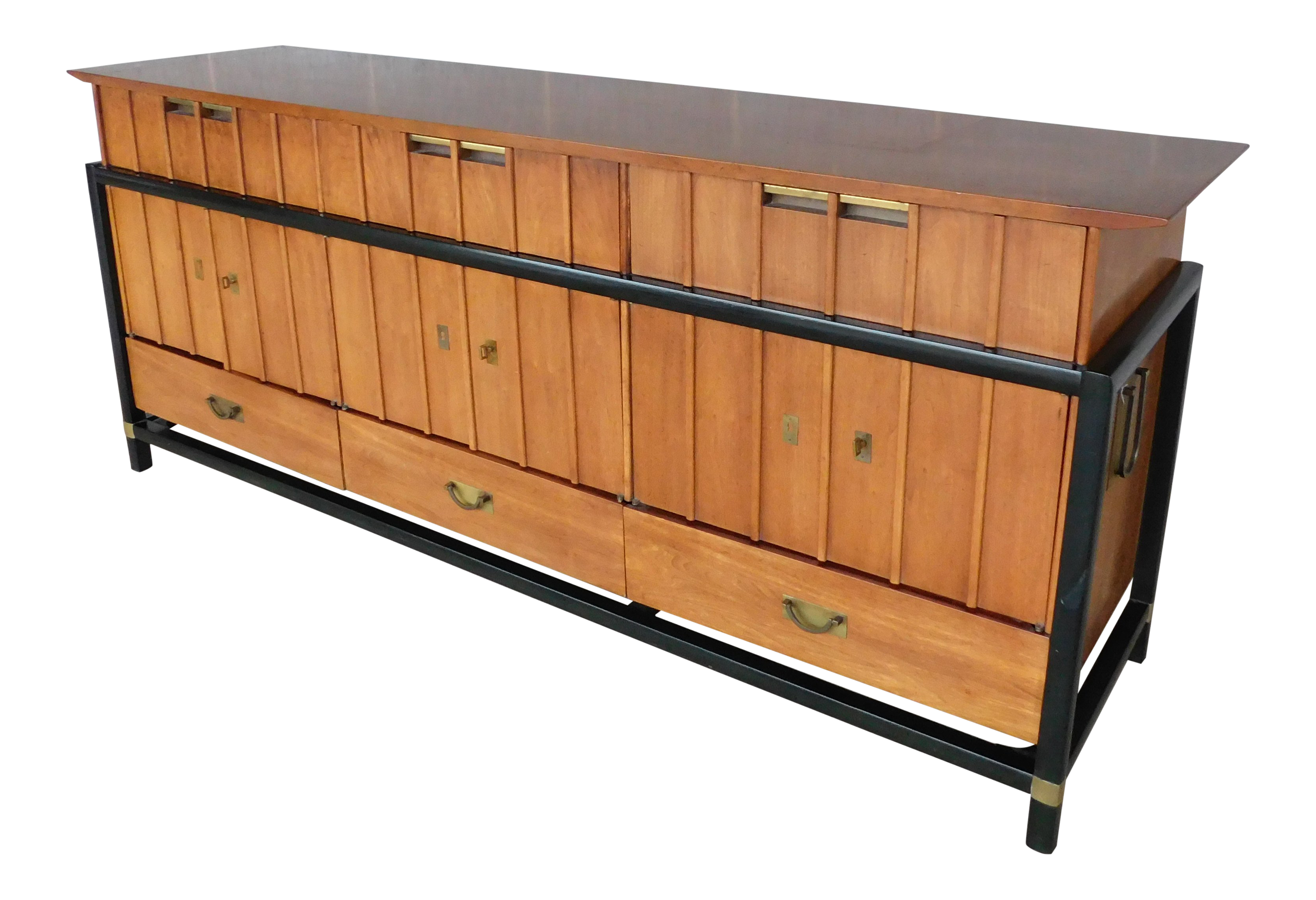 Danish Credenza Los Angeles : Mid century danish modern credenza storage cabinet teak wall unit