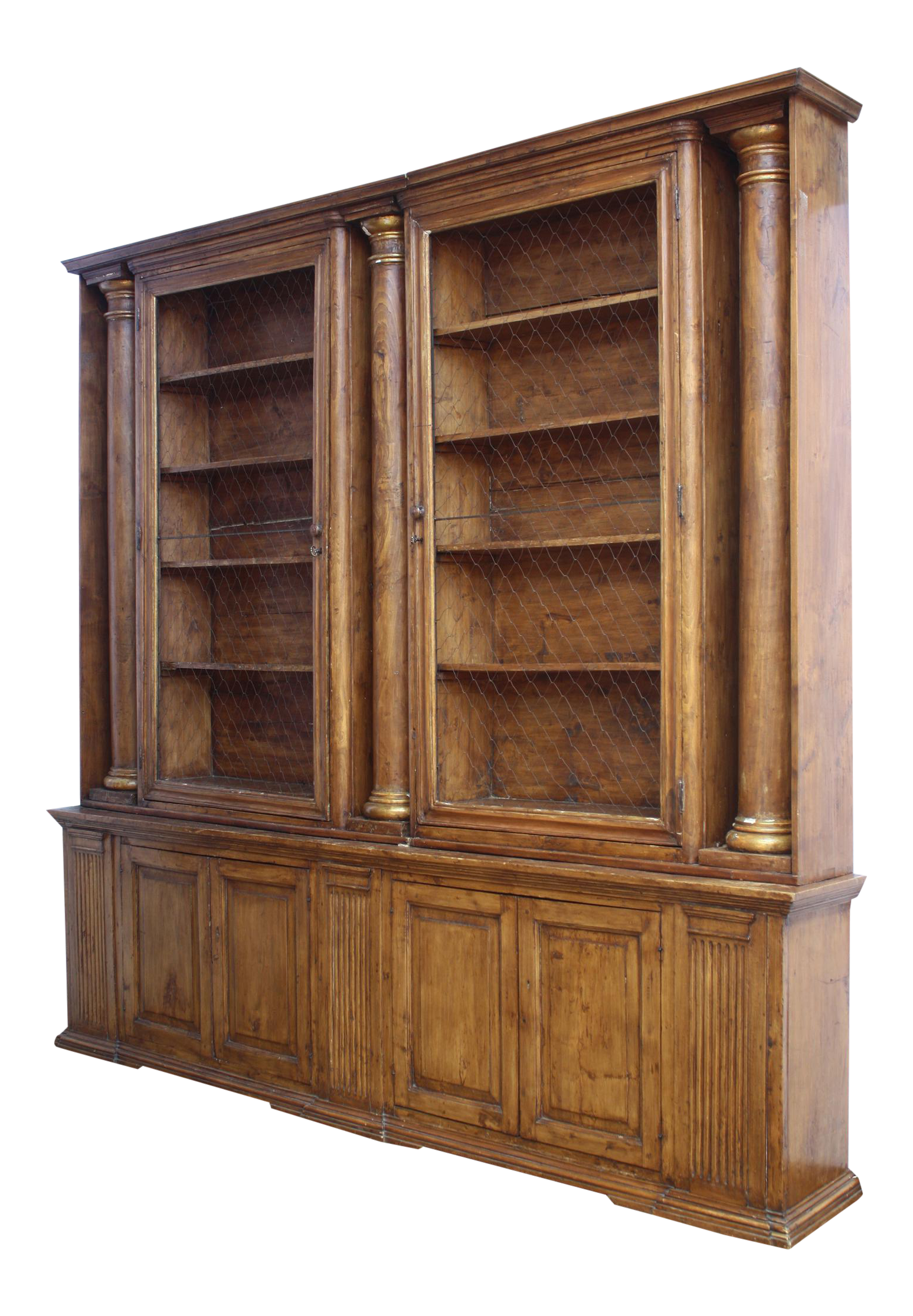 zayley fresh with bookcases bed angled in twin bookcase