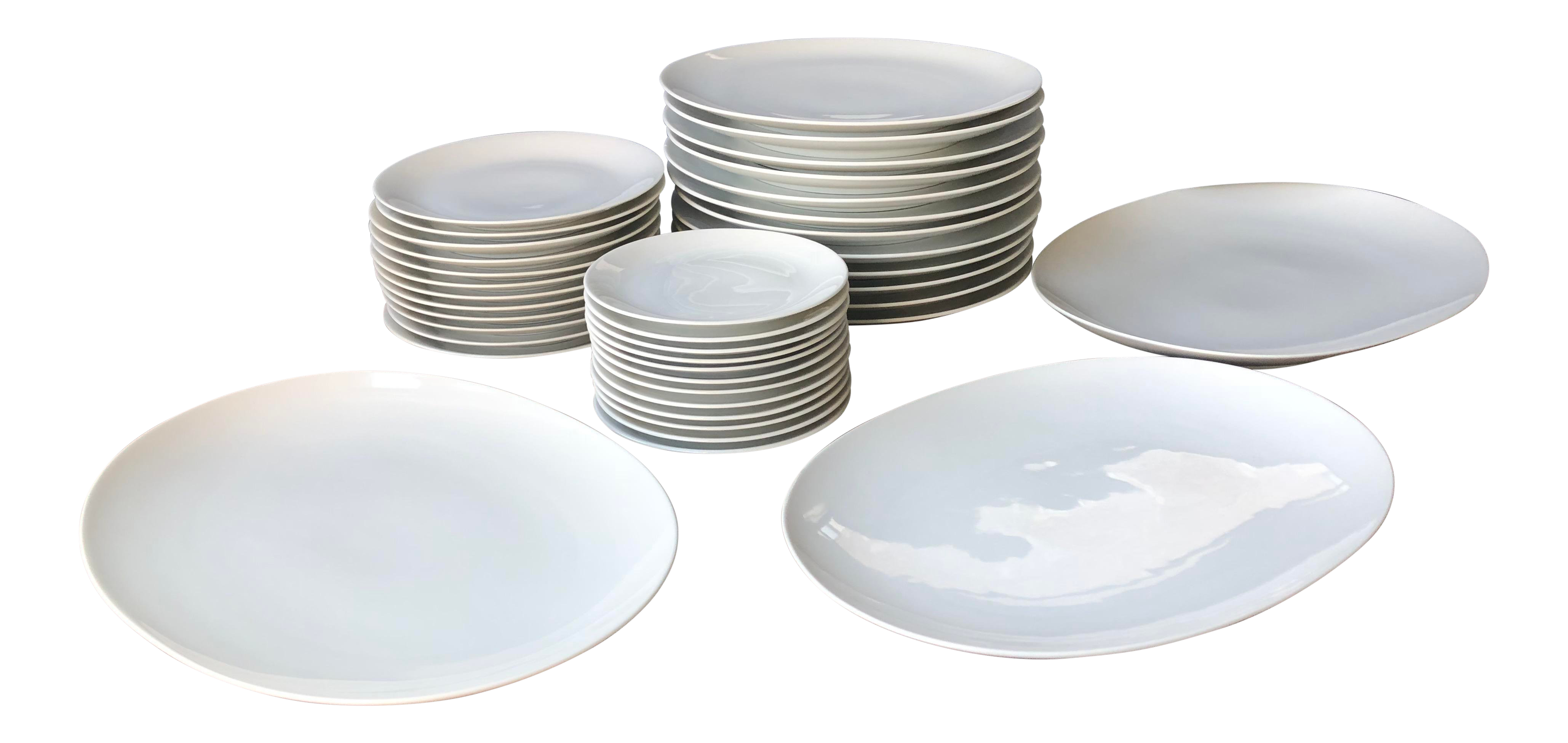 Vintage Mid Century Modern Rosenthal Continental China 10 18 Dinner Plates Designed by Raymond Loewy Germany Black /& White SCRIPT PATTERN