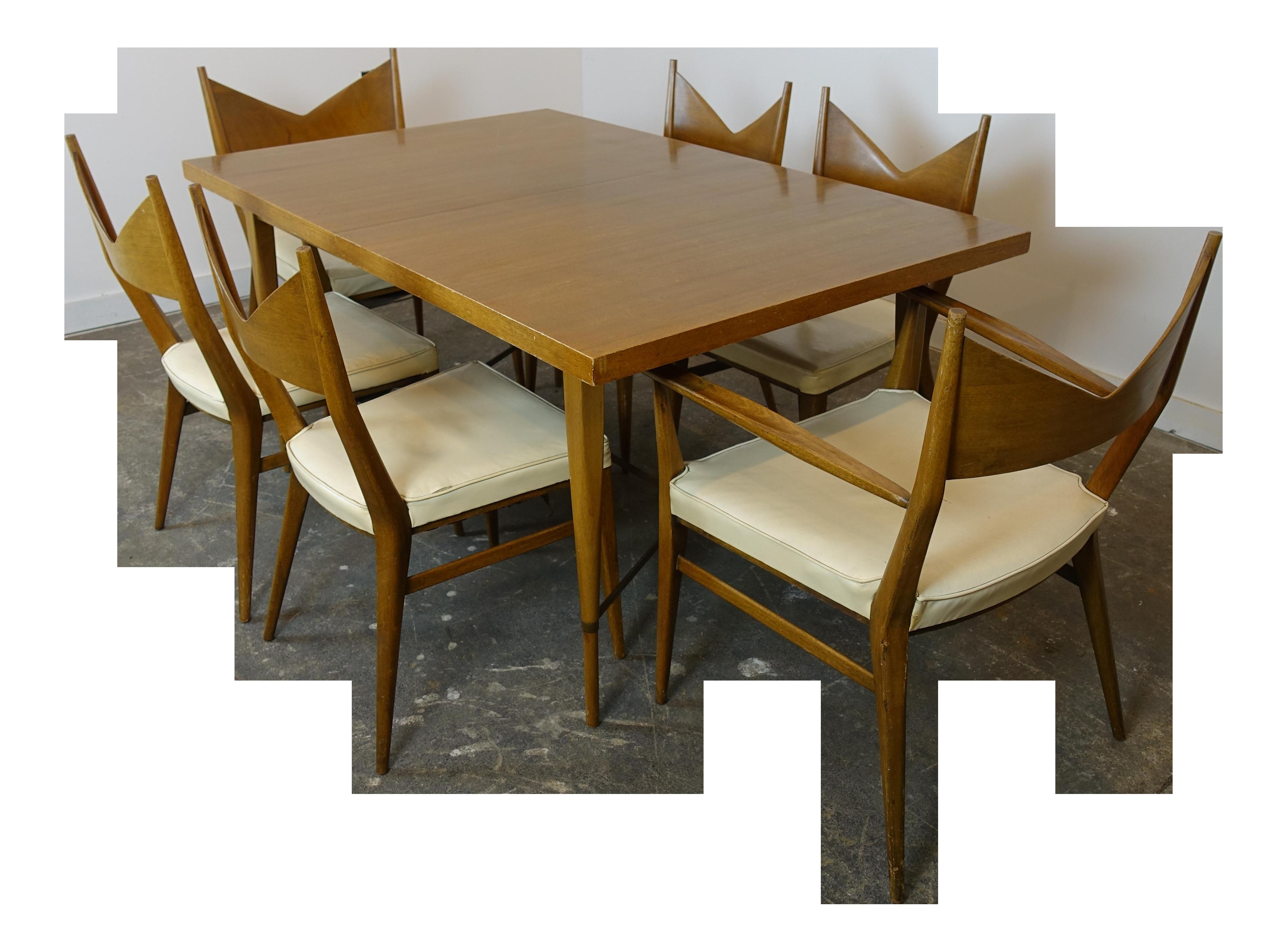 Office Cabin Interior Design, 1950s Mid Century Modern Paul Mccobb Dining Set 7 Pieces Chairish