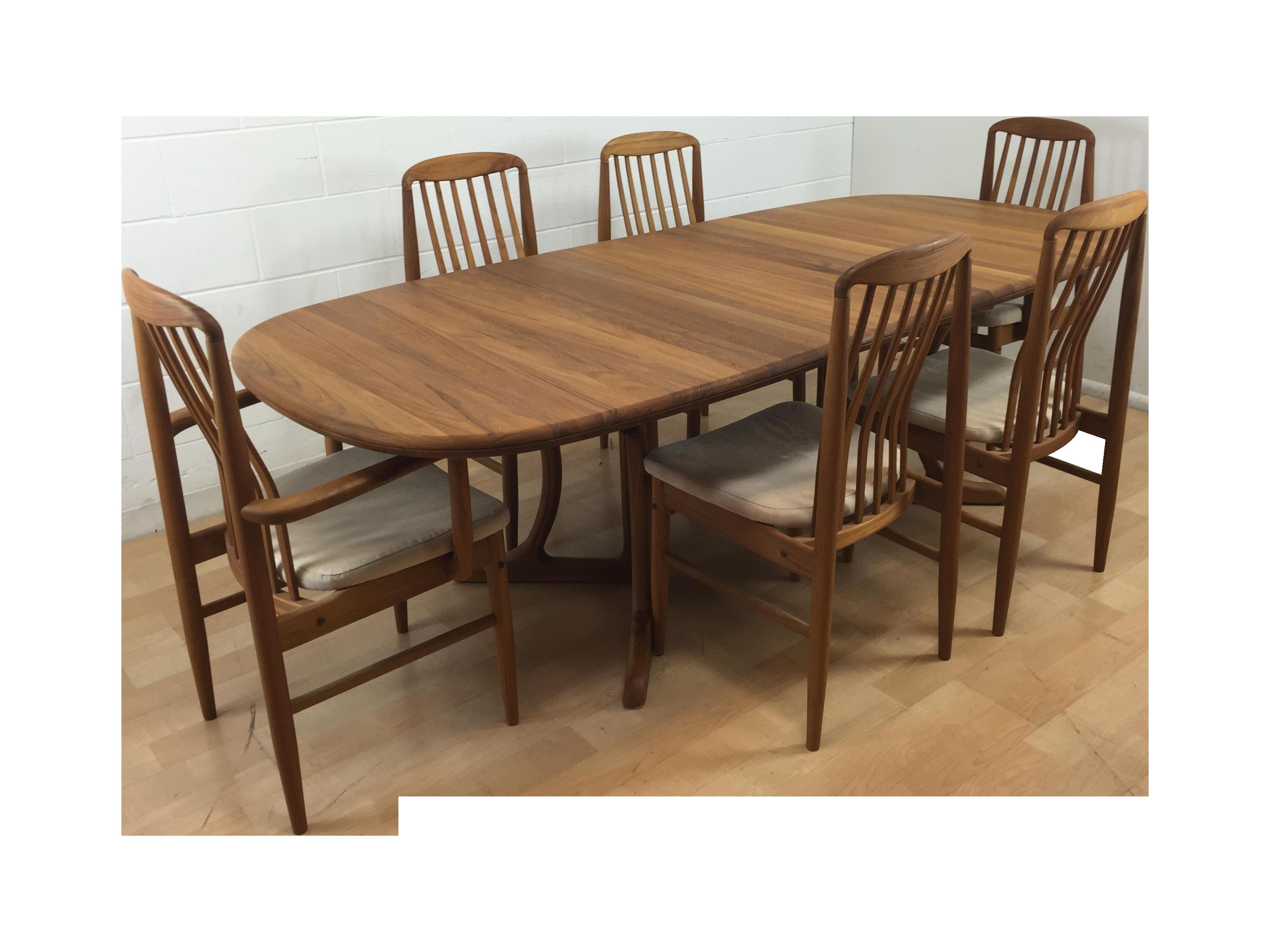 Benny linden mid century modern teak dining set chairish