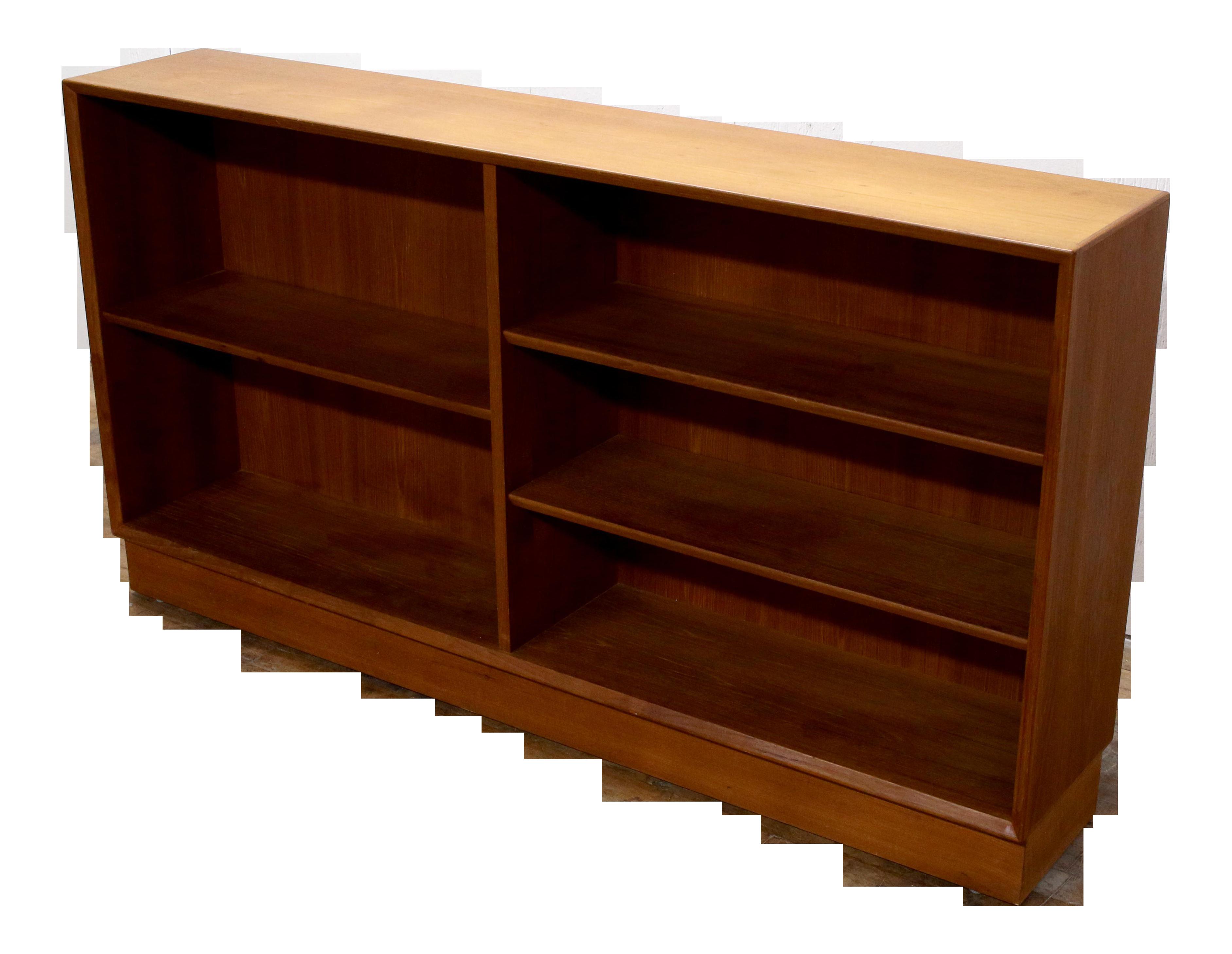 Image of: 1960s Danish Modern Solid Teakwood Low Mid Century Modern Bookcase Cabinet 2 Chairish