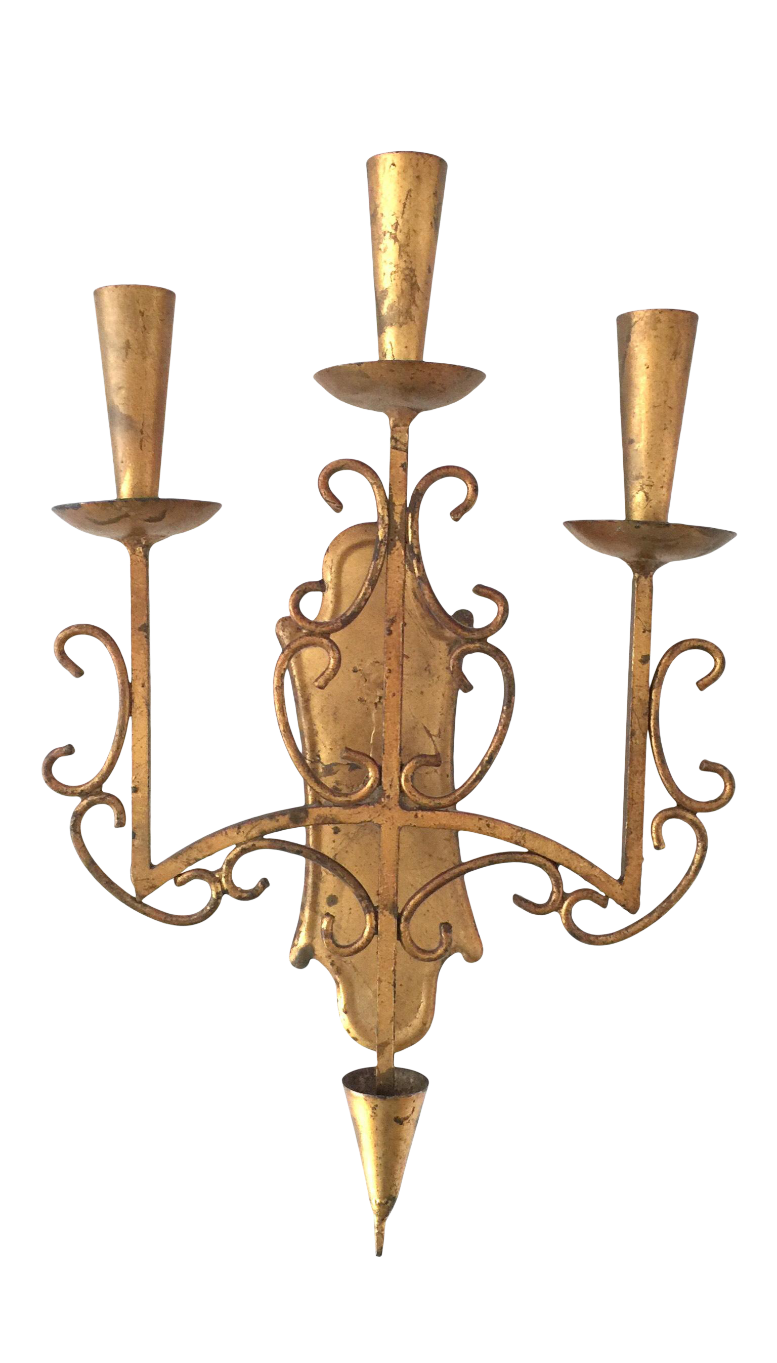 Italian Hand Painted Hollywood Regency Style Wall Sconce Candle Holder Chairish