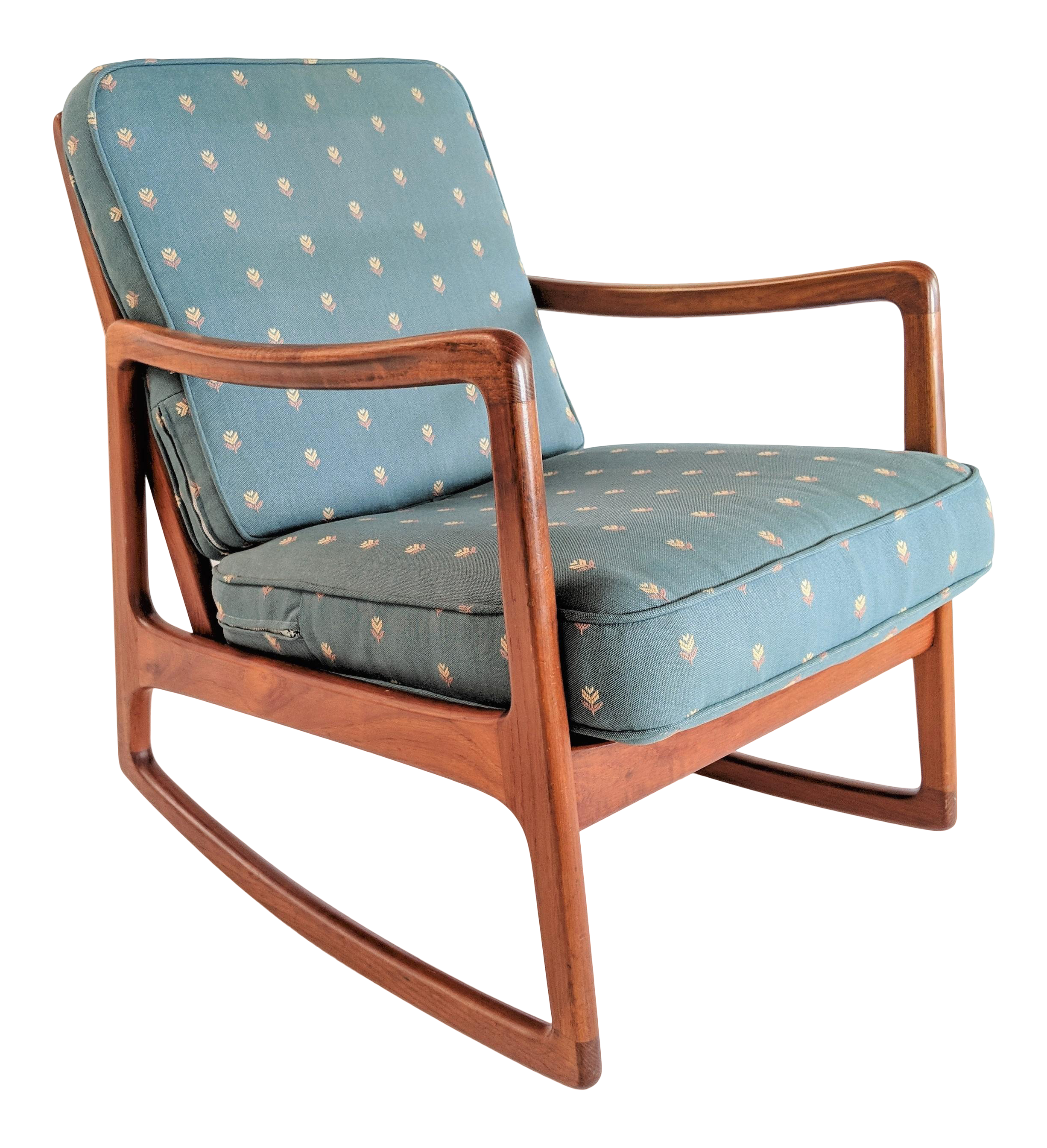 1960s Danish Modern Ole Wanscher For France And Son Teak Rocking Chair Chairish