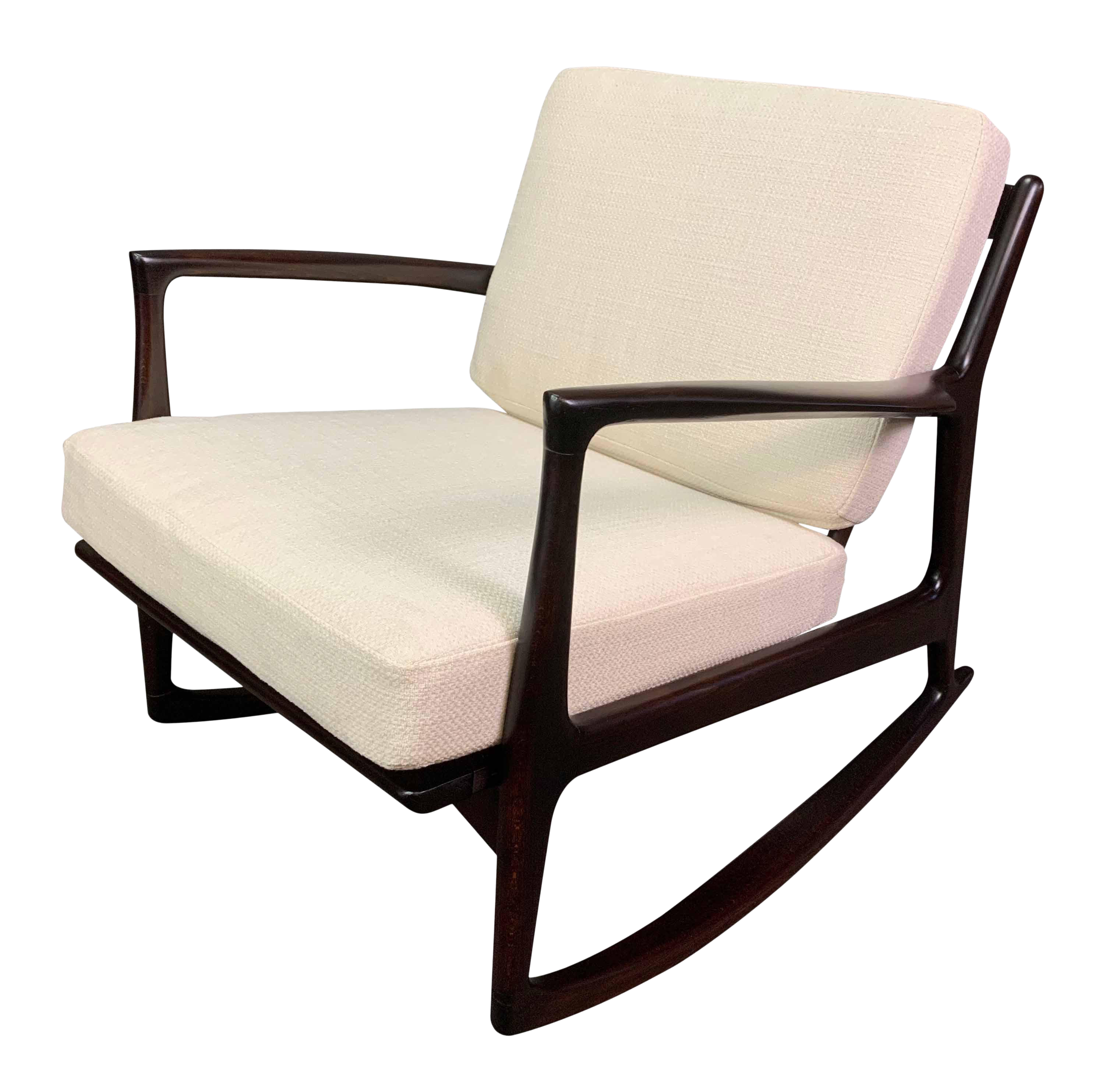 Incredible Vintage Danish Mid Century Modern Rocking Chair By Kofod Larsen For Selig Alphanode Cool Chair Designs And Ideas Alphanodeonline