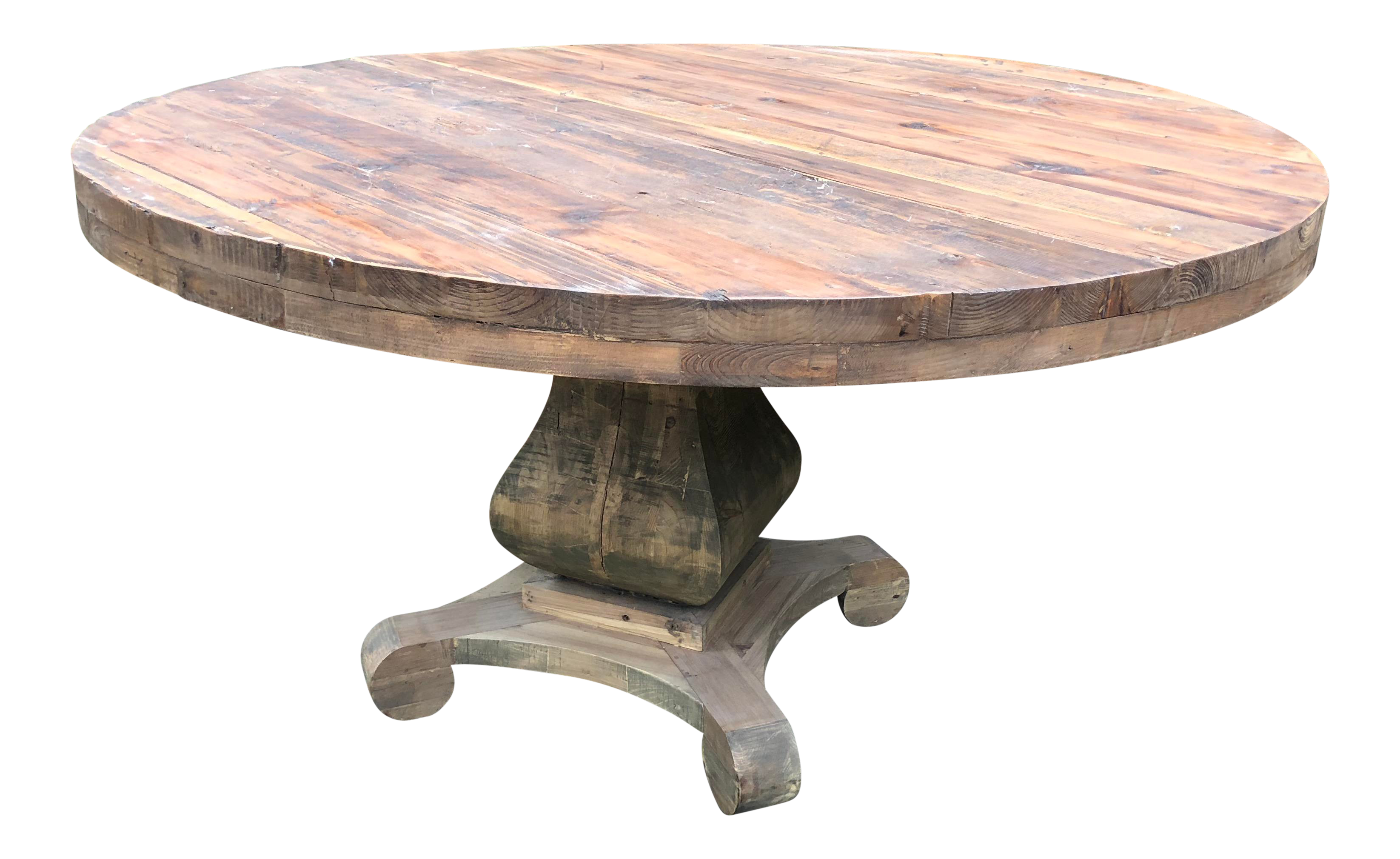 Modern Rustic and Round Dining Table