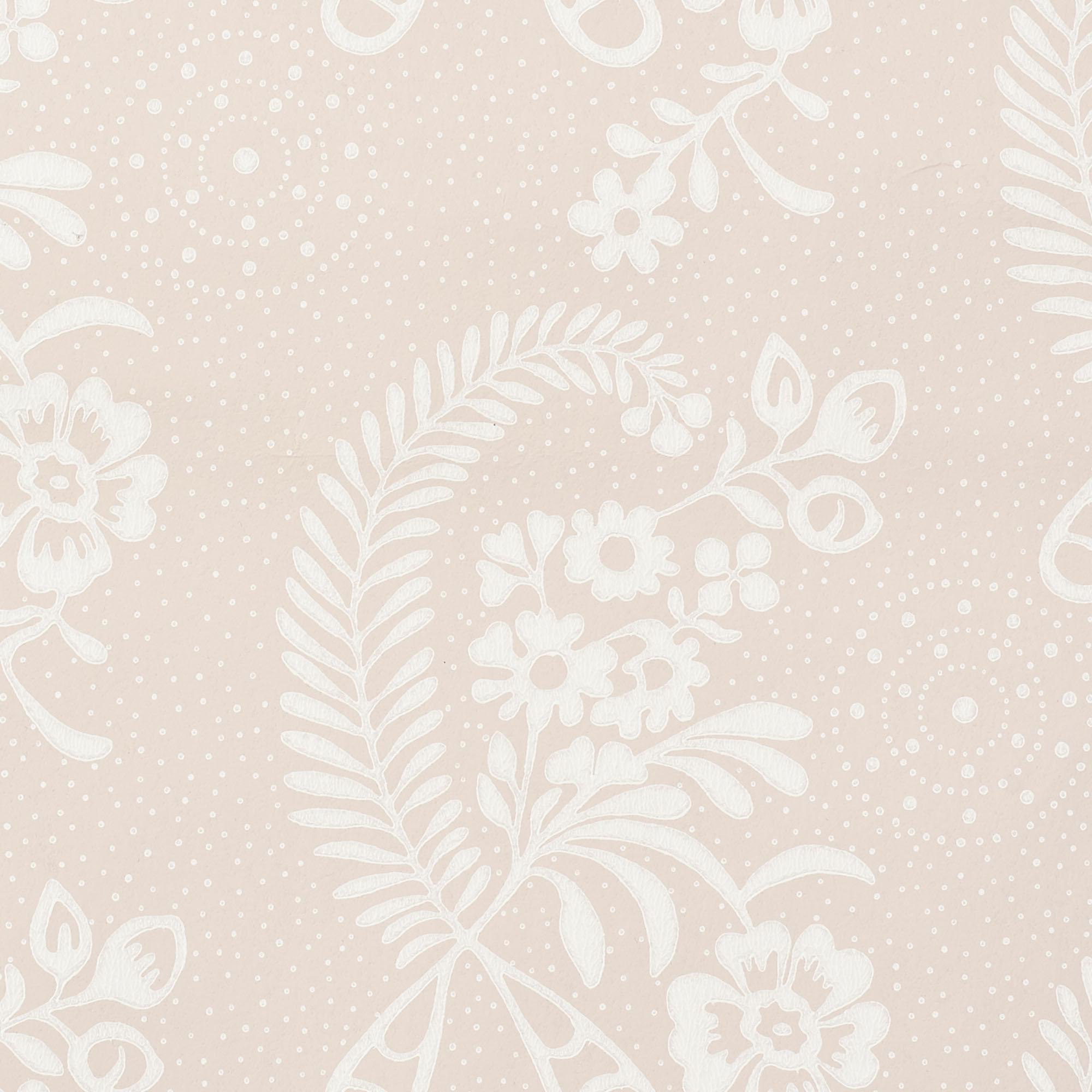 Schumacher Millicent Wallpaper In Rose Chairish