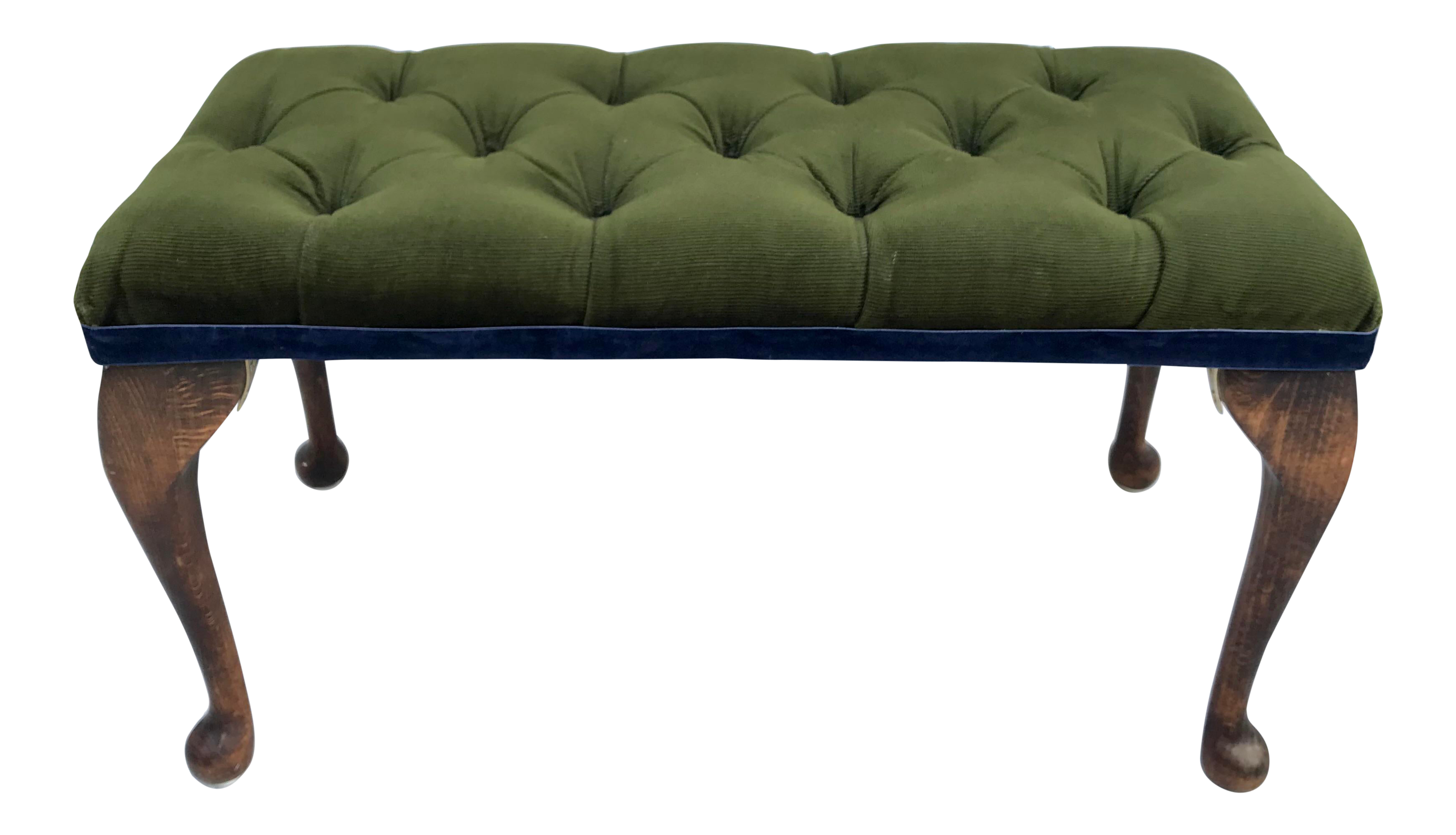 Outstanding Antique Green Tufted Petite Bench Andrewgaddart Wooden Chair Designs For Living Room Andrewgaddartcom