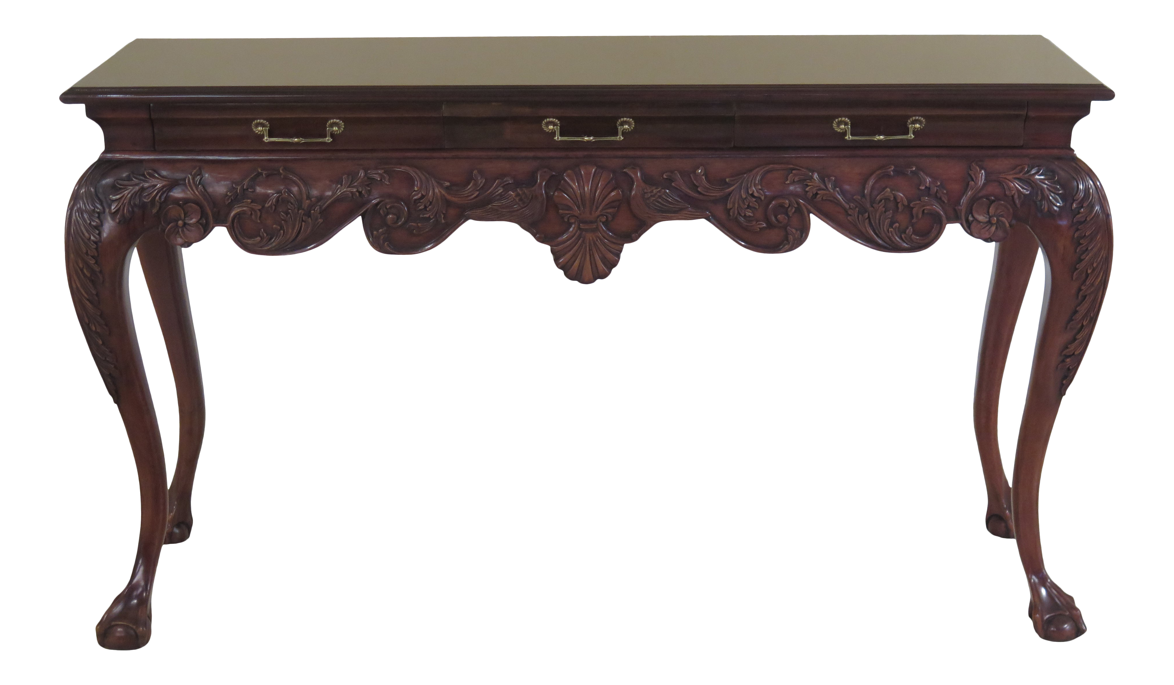 Cool Lincoln Gerard Chippendale Ball Claw Mahogany Console Table Theyellowbook Wood Chair Design Ideas Theyellowbookinfo