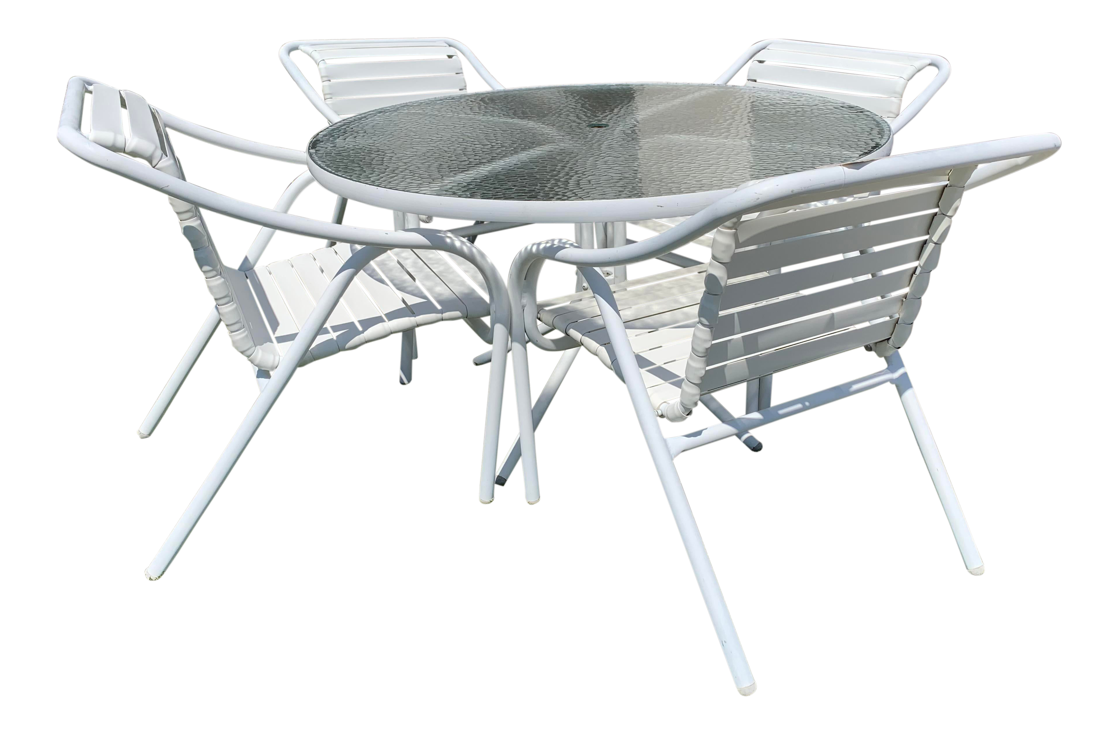 Astounding Brown Jordan Outdoor Dining Table 4 Chairs Pabps2019 Chair Design Images Pabps2019Com