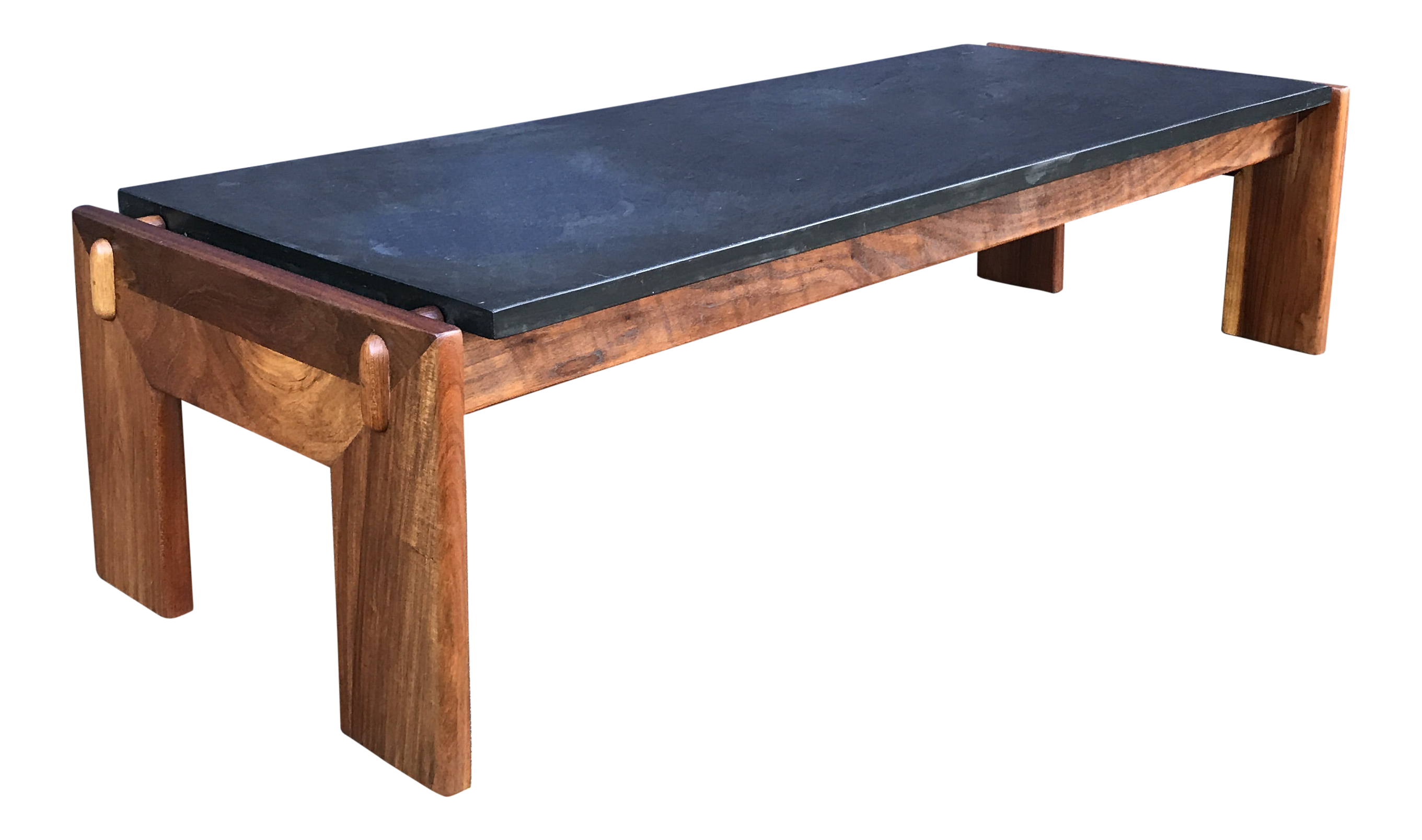Restored Adrian Pearsall Walnut Slate Coffee Table Craft Associates Chairish