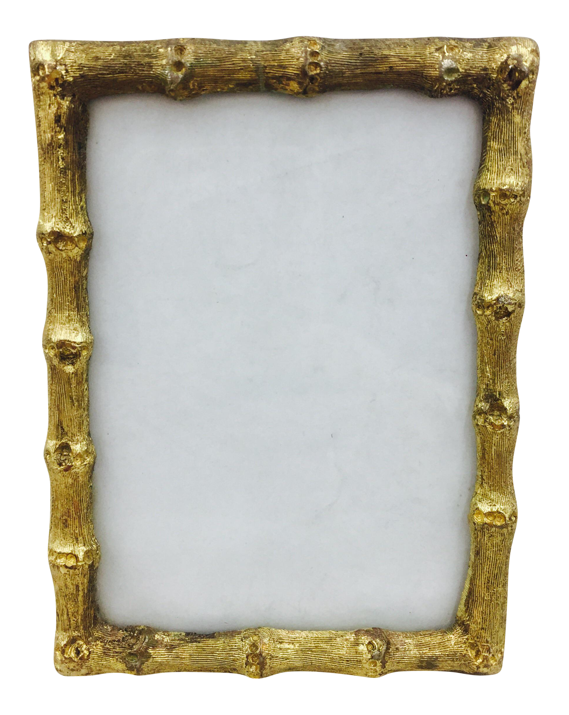 Hollywood Regency Gold Faux Bamboo Frame | Chairish