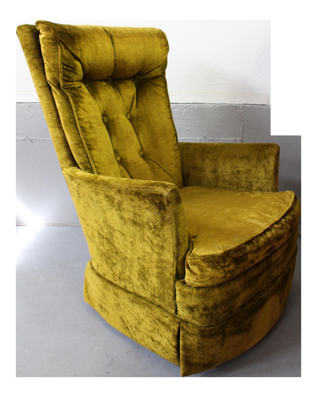 Magnificent Kroehler High Back Swivel Rocker Chair Machost Co Dining Chair Design Ideas Machostcouk