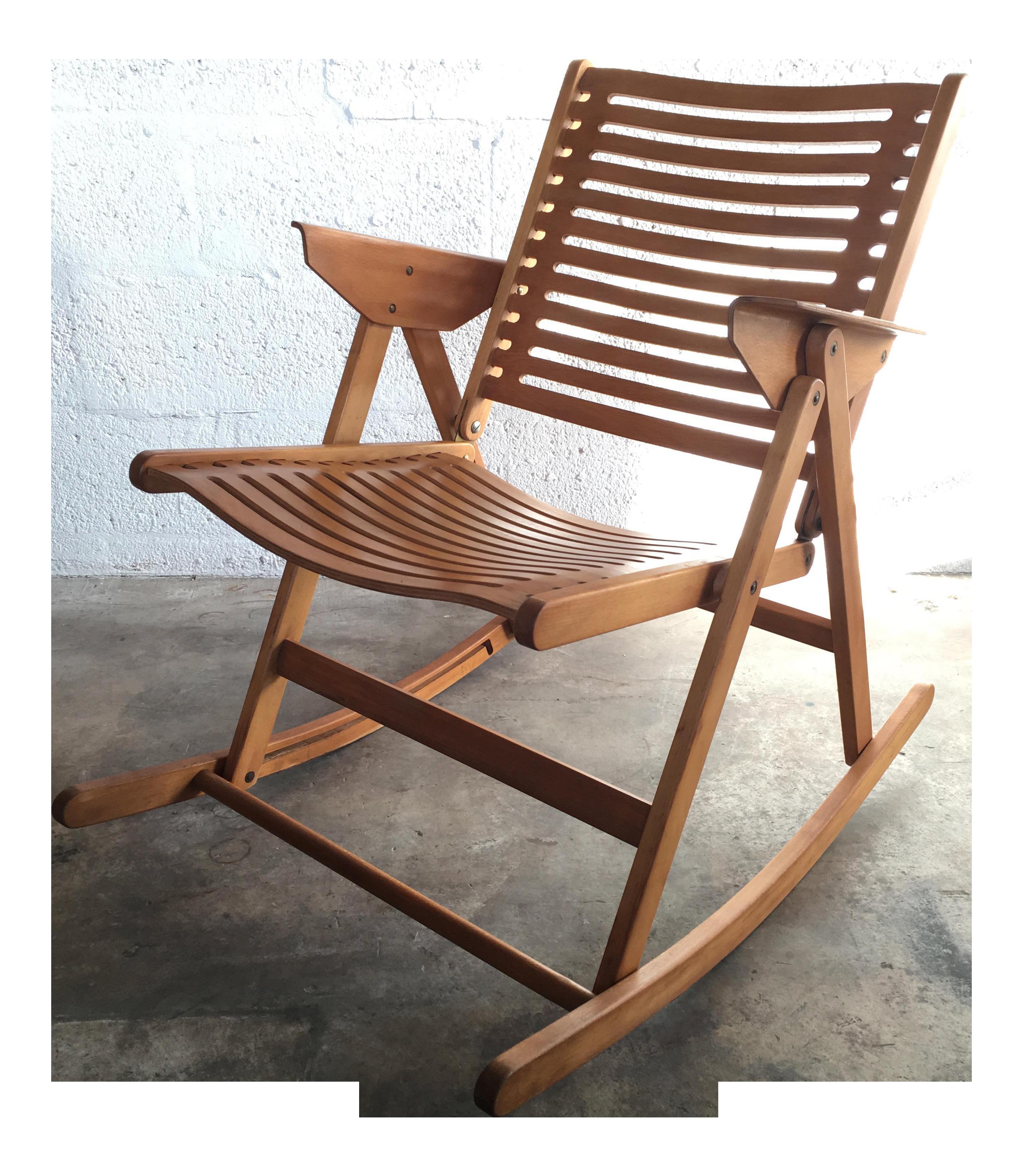 Niko Kralj Vintage Rex Folding Rocking Chair
