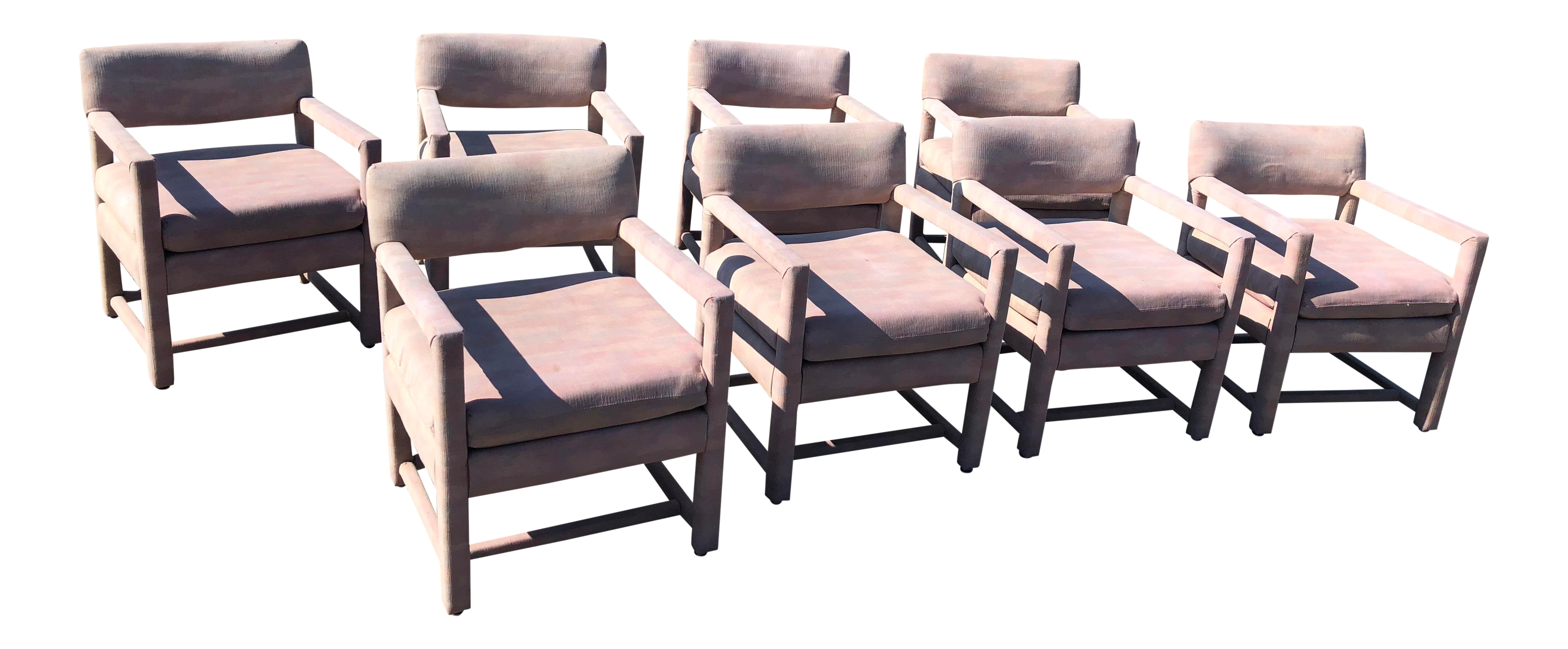 Shenandoah furniture inc upholstered dining chairs set of 8 chairish