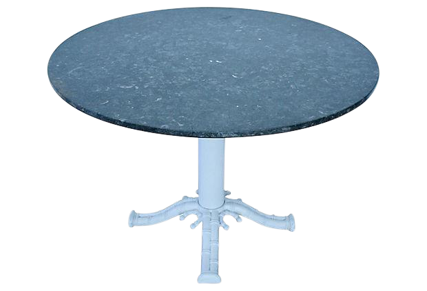 42quot Round Marble Dining Table on Faux Bamboo Pedestal Base  : 42 round marble dining table on faux bamboo pedestal base 5041 from www.chairish.com size 620 x 422 png 136kB