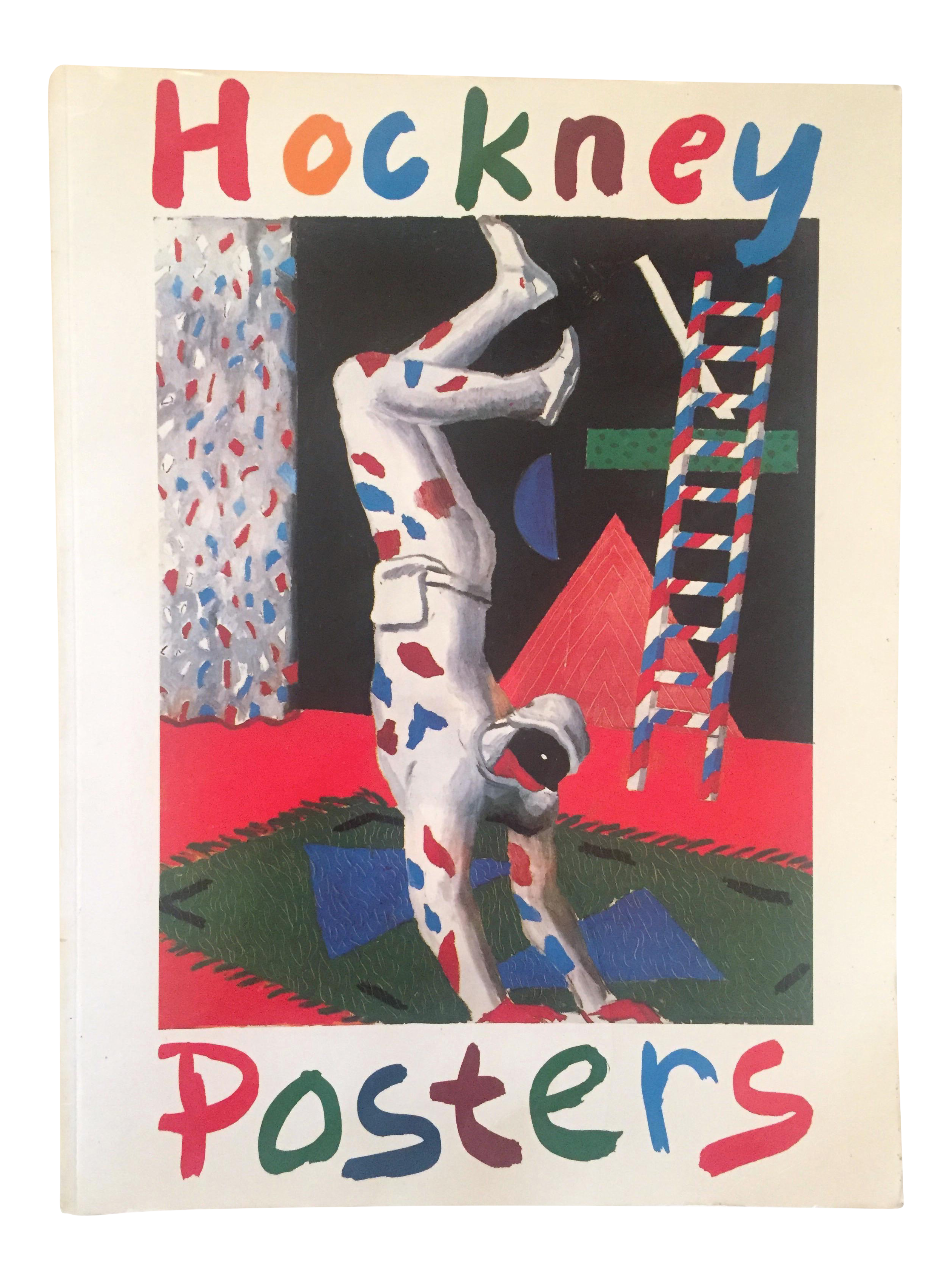 """Vintage 1987 """"Hockney Posters"""" Rare 1st Edtn Extra Large Collector's Art  Book 