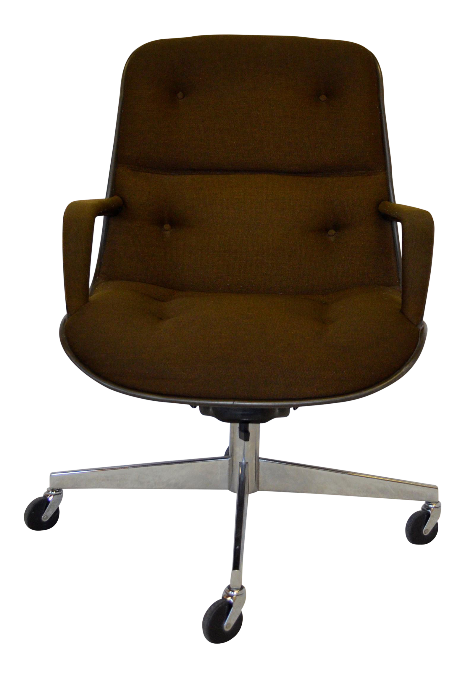 Brown charles pollock for knoll office chair chairish