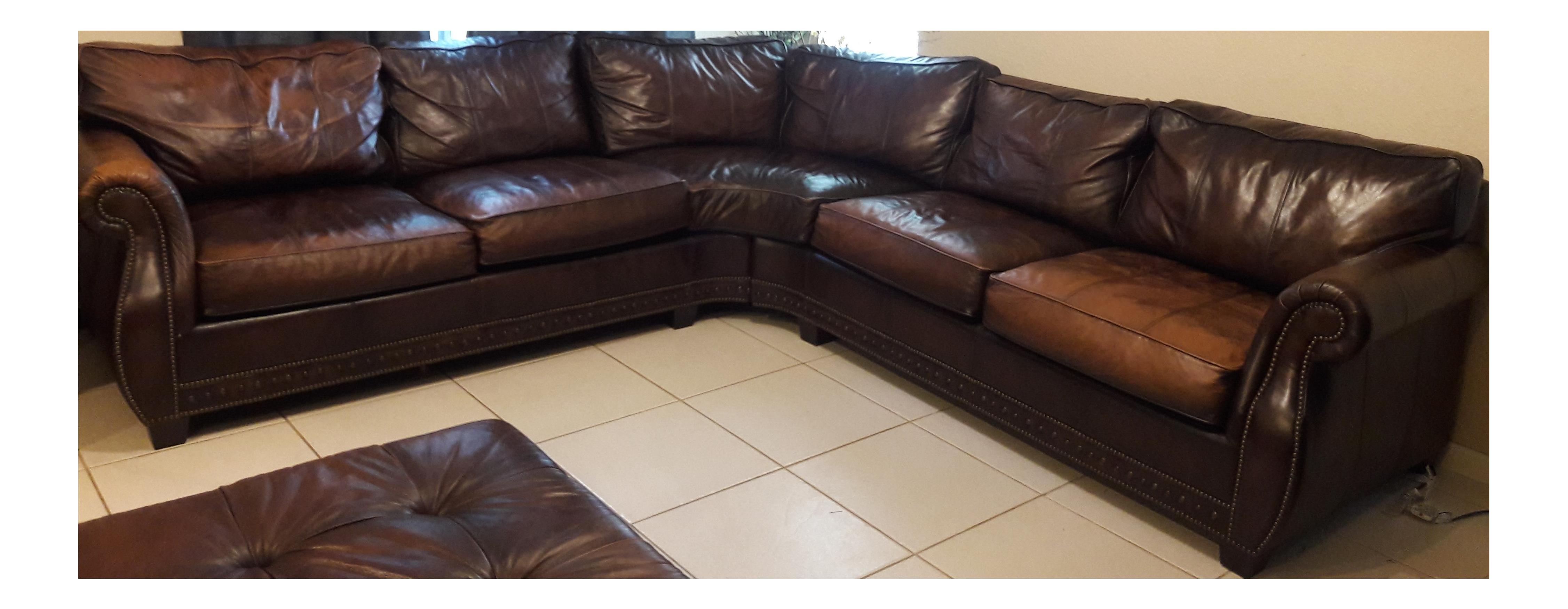 Sensational Bernhardt Grandview Sectional Leather Sofa Home Interior And Landscaping Eliaenasavecom