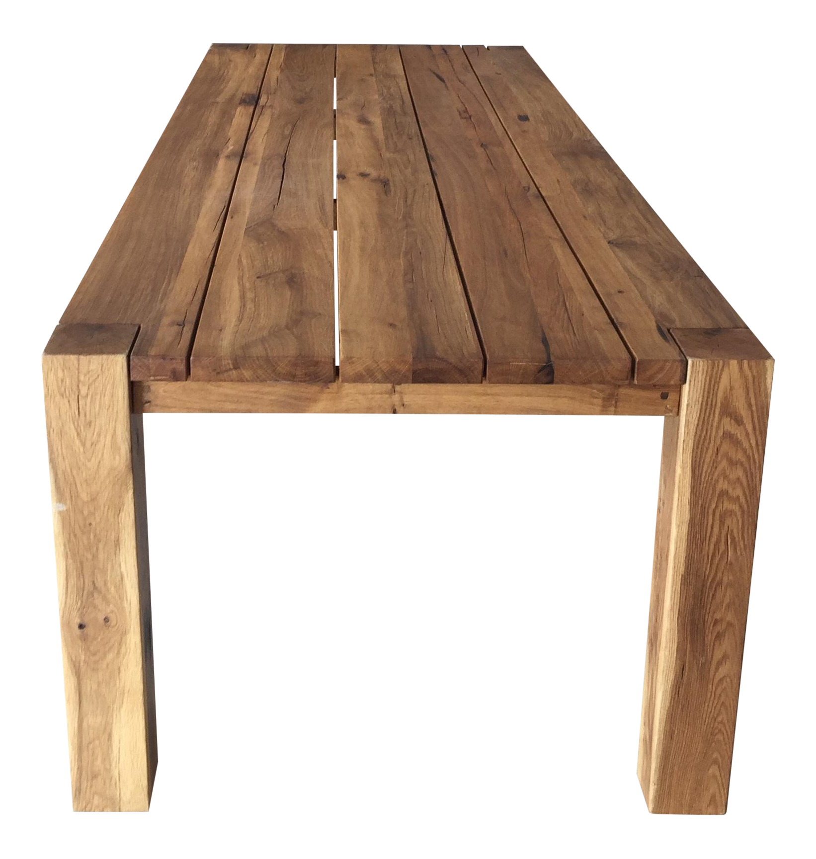Attractive Restoration Hardware Natural Oak Dining Table | Chairish RK54