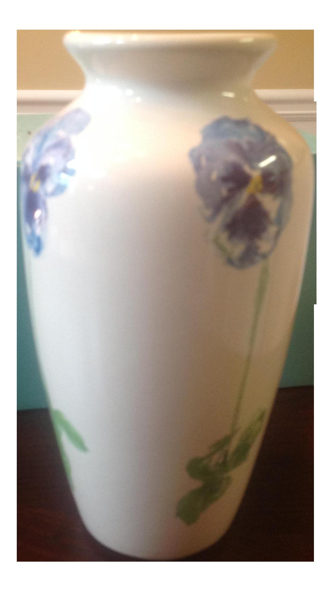 Tiffany co porcelain blossom iris vase chairish reviewsmspy