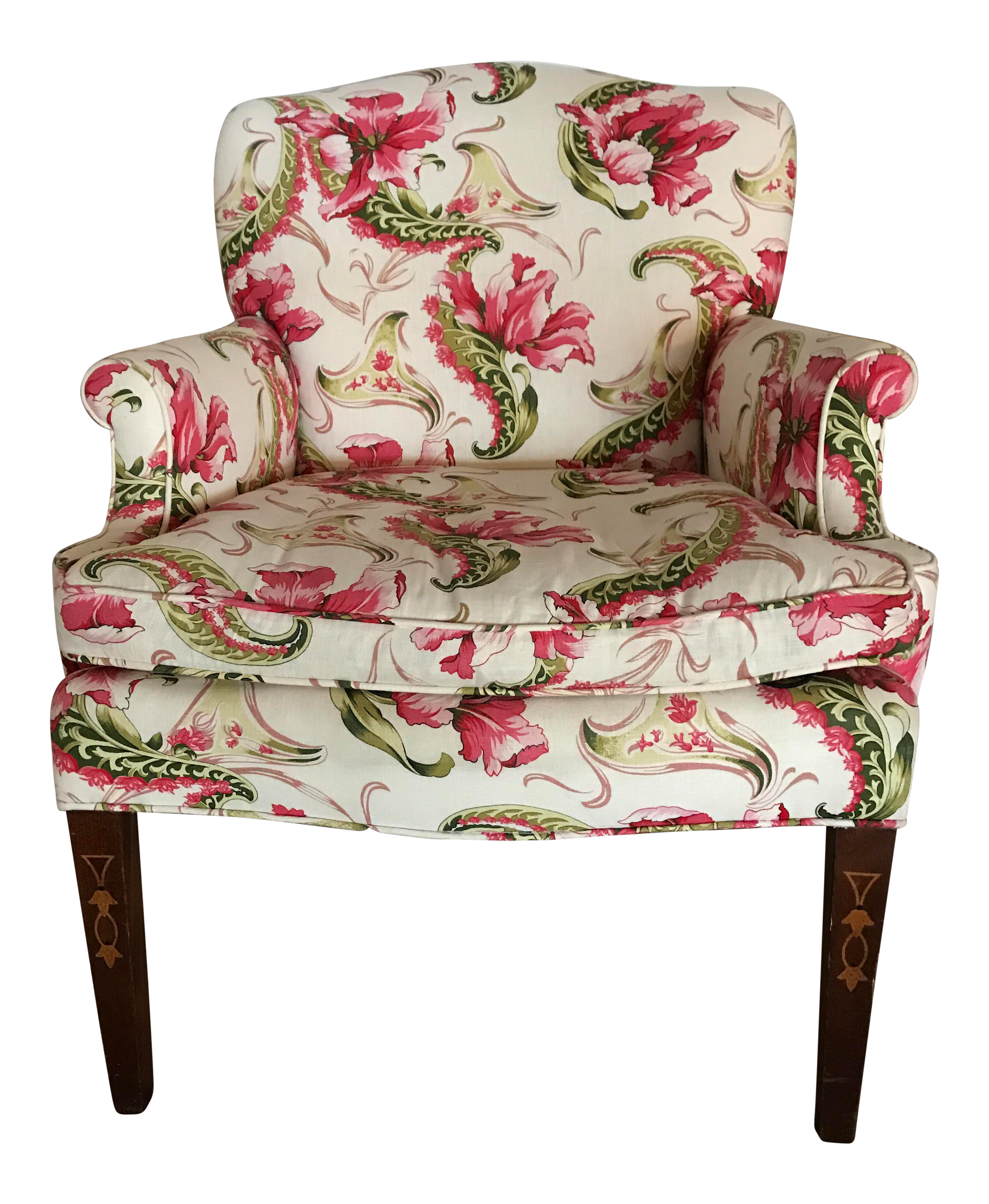 sc 1 st  Chairish & English Country Floral Accent Chair | Chairish