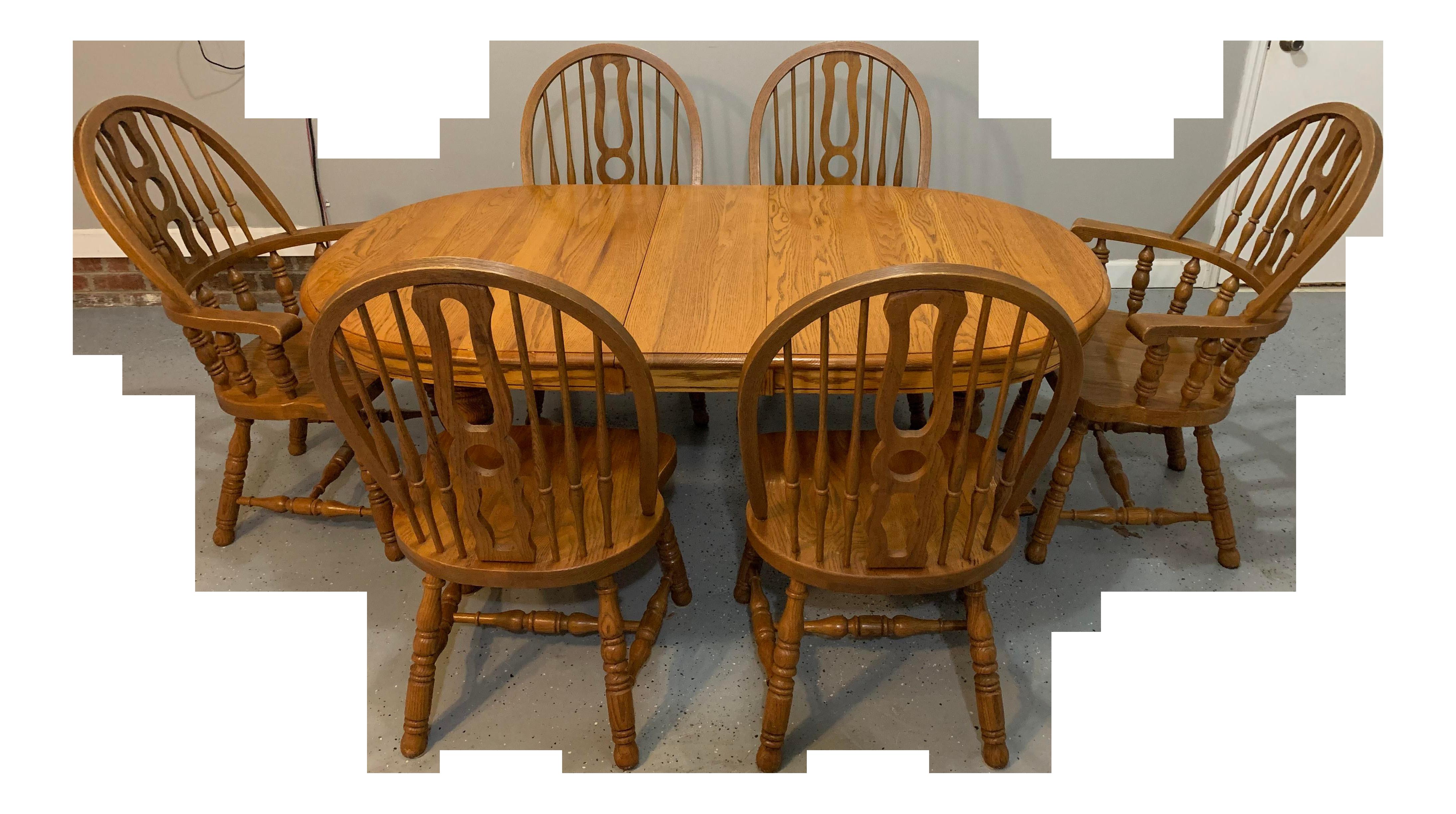 Keller Solid Oak Dining Set   9 Pieces