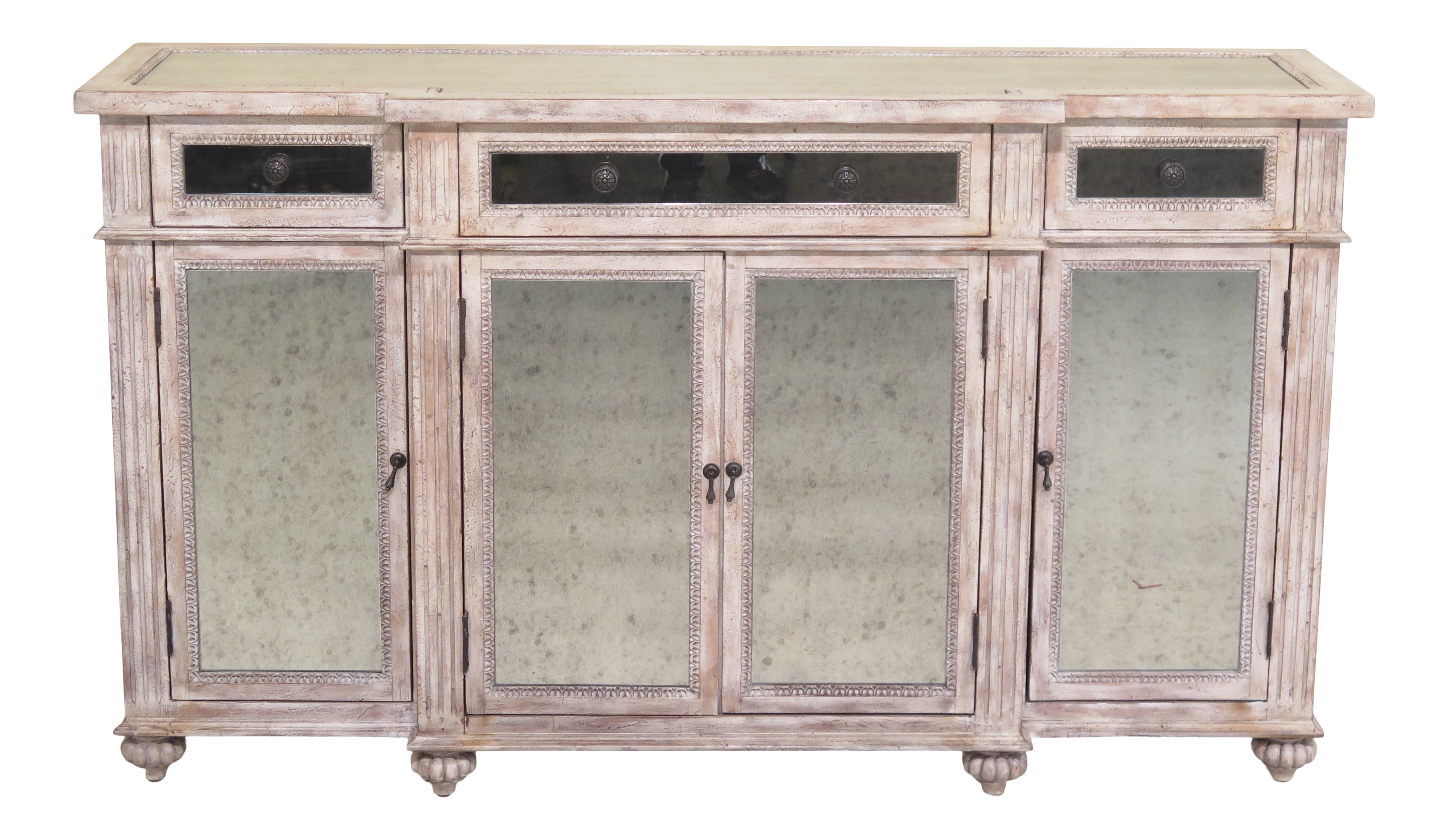 new arrivals d6f07 77ae8 Hooker Hollywood Regency Mirrored Paint Decorated Sideboard Console