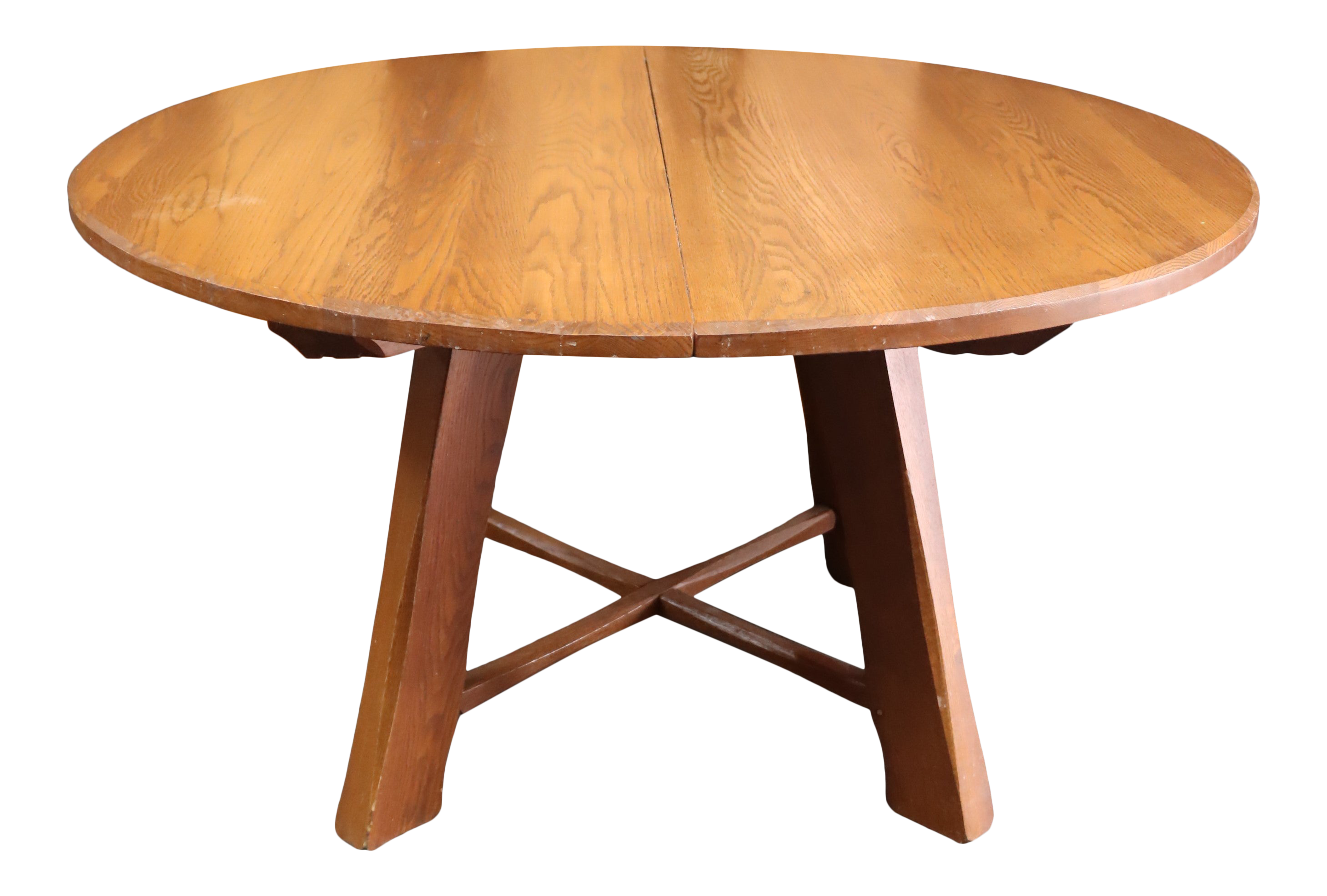 Hunt Country Solid Oak Rustic Style Dining Table / 9 Leaves