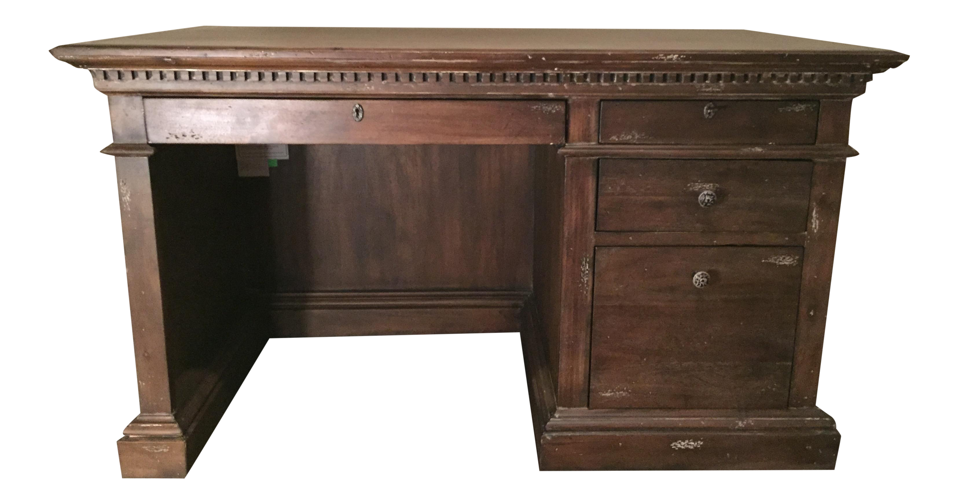 sturdy new restoration desks this give look loving and feel liberty our blog a furniture mixed inspired collection re desk hardware gorgeous we iron wilson wood in