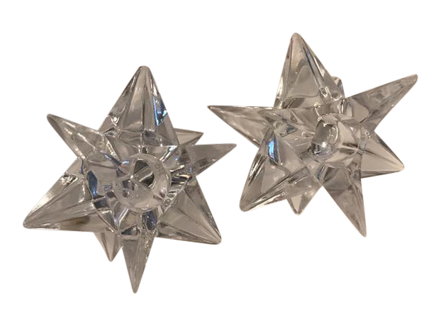vintage rosenthal crystal star candle holders a pair With kitchen cabinet trends 2018 combined with crystal star candle holder
