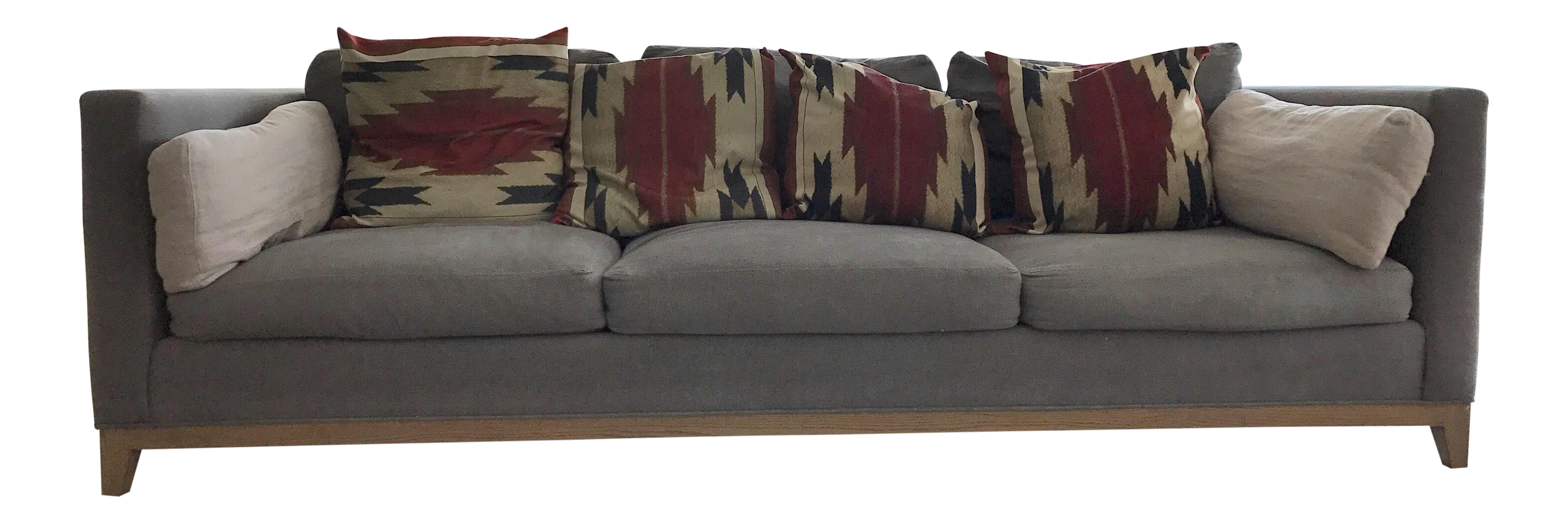 Crate Barrel Taraval Oak Based Sofa Chairish