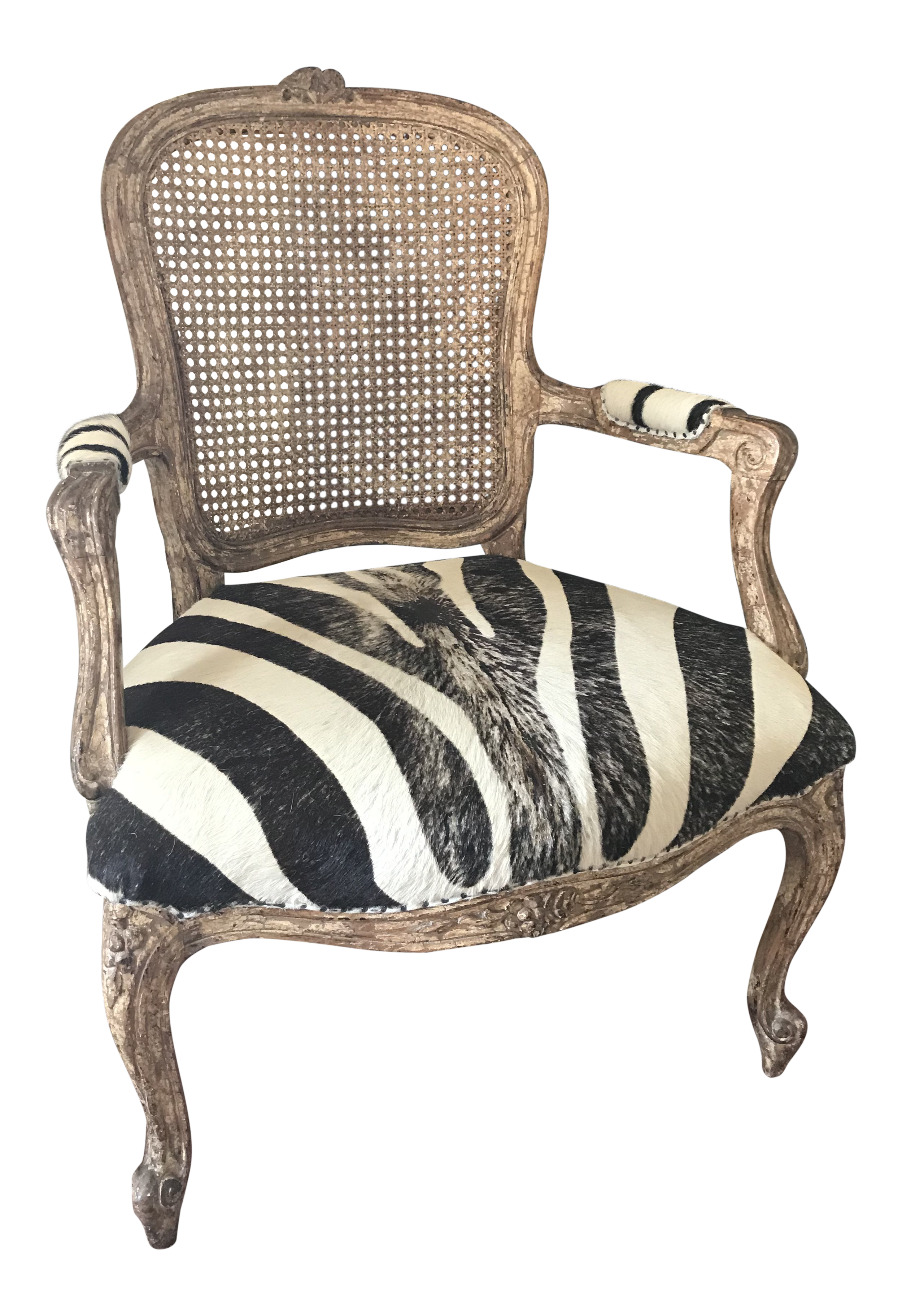 French Traditional Imports Distressed Armchair