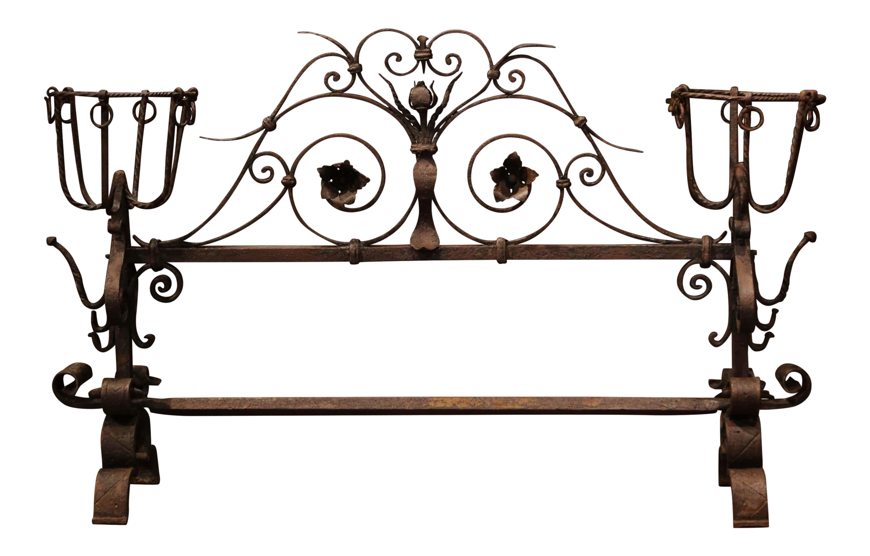 Important 18th Century French Gothic Wrought Iron Fireplace Screen