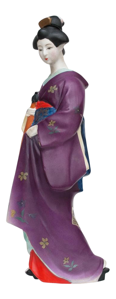 Large Geisha Saki Bottle