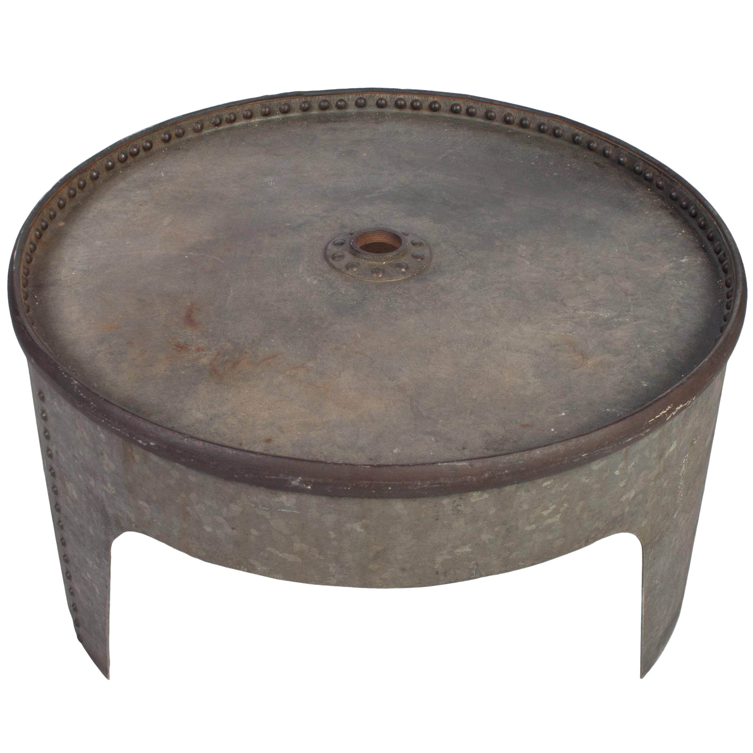 - Round Industrial Coffee Table Chairish