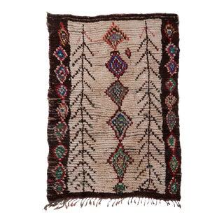 "Mason Moroccan Wool Rug - 4'6"" X 6'3 For Sale"
