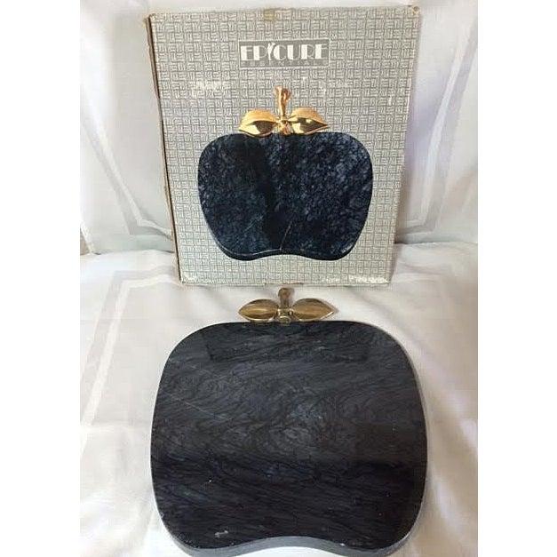 Vintage Black Marble Serving Tray - Image 4 of 5