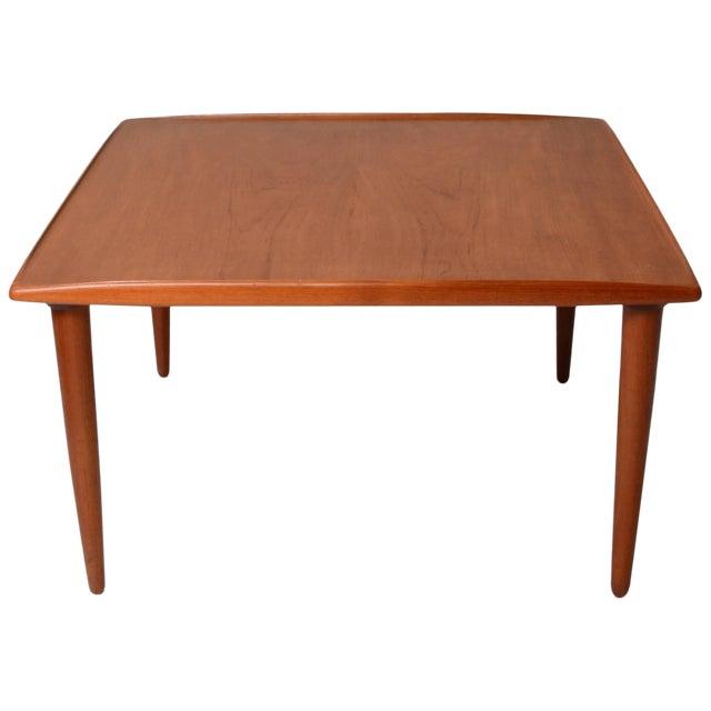 Titan Teak Round Outdoor Dining Table Square Leg 1 2m