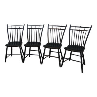 Antique Bird Cage Windsor Chairs - Set of 4