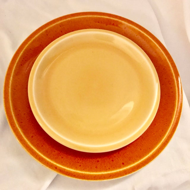 Jars of France Orange Dinner Plates & Yellow Salad Plates - 8 Pieces - Image 2 of 8